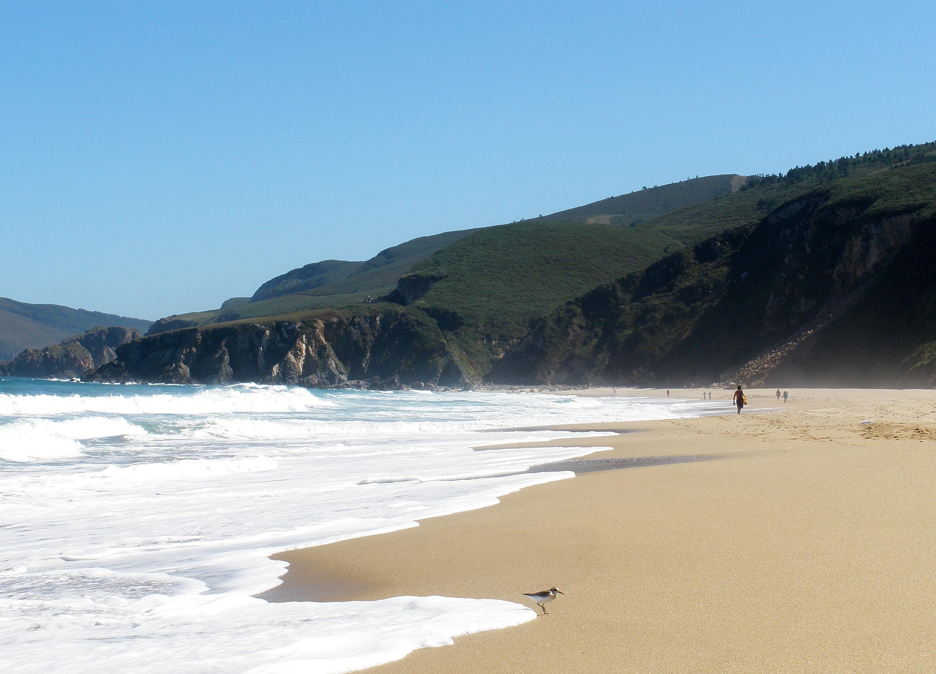 Foto playa Ponzos. Ay! Que me voy a mojar!
