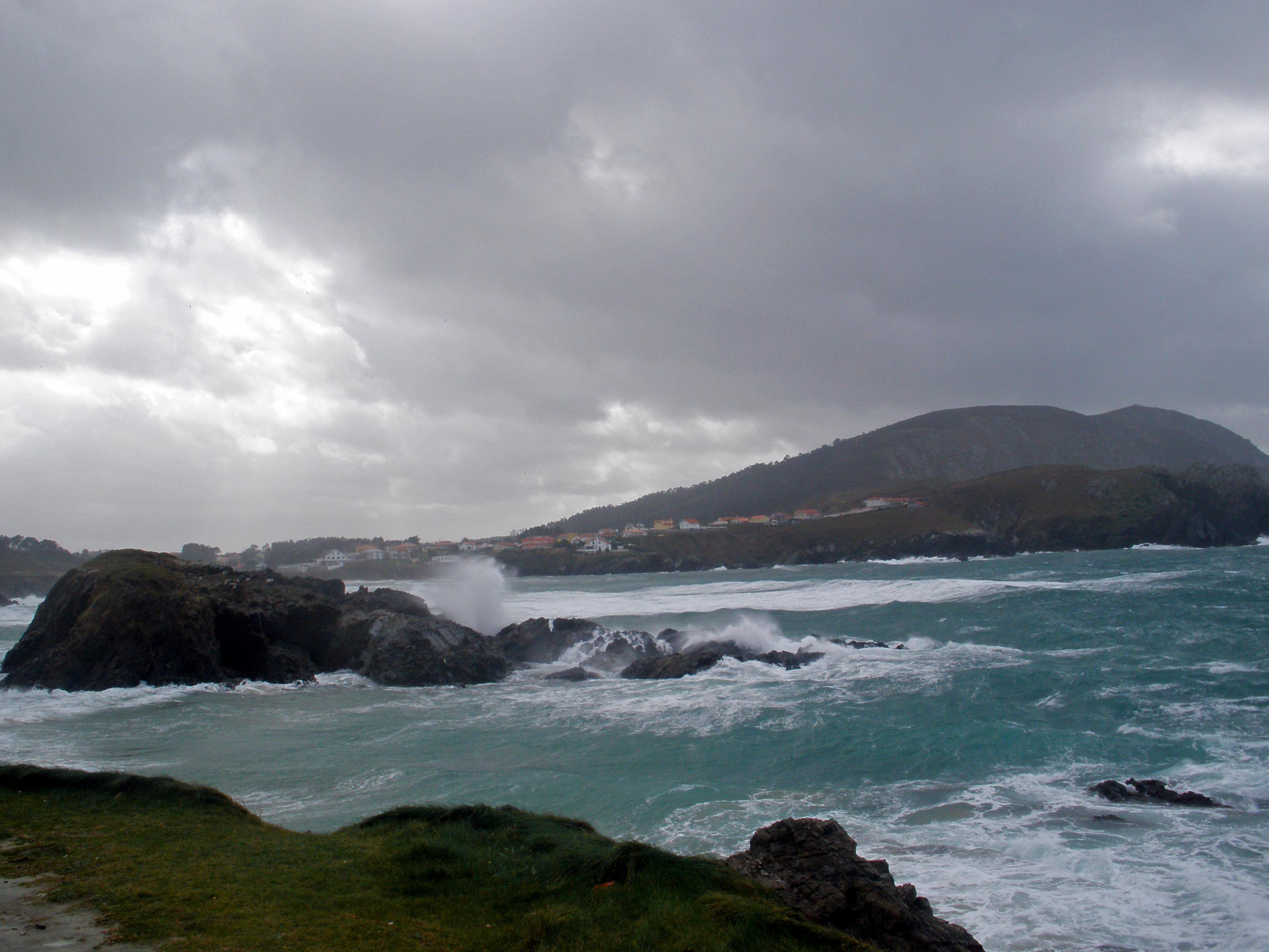 Foto playa Praia do Portiño / O Porto. Empieza un nuevo temporal
