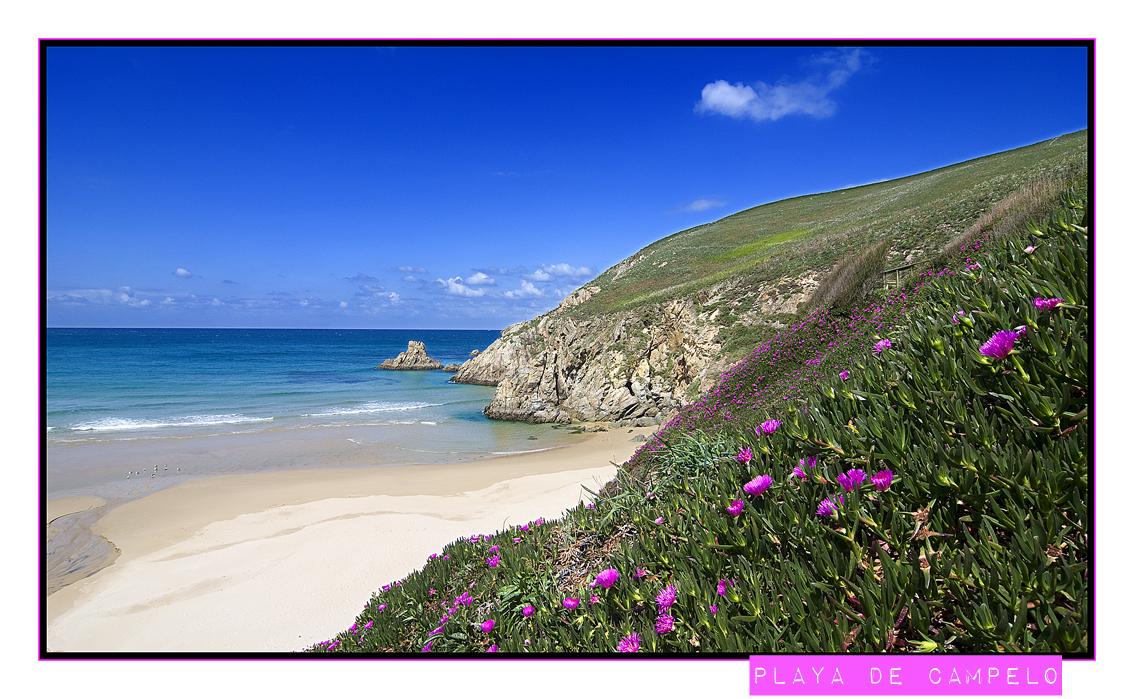 Foto playa Rosella. Playa de Campelo