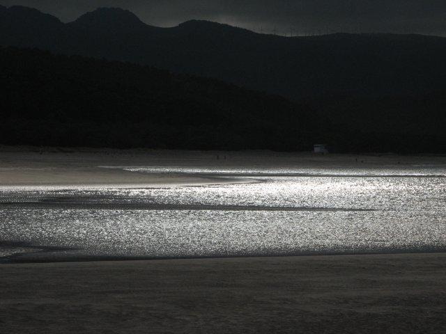 Foto playa Calas de Ladrido / Vidueiros. La noche en la playa de Morouzo
