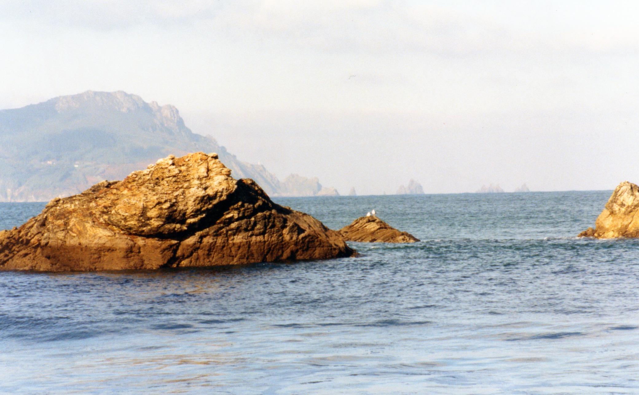 Foto playa A Concha. Cabo Ortegal desde la playa de Céltigos