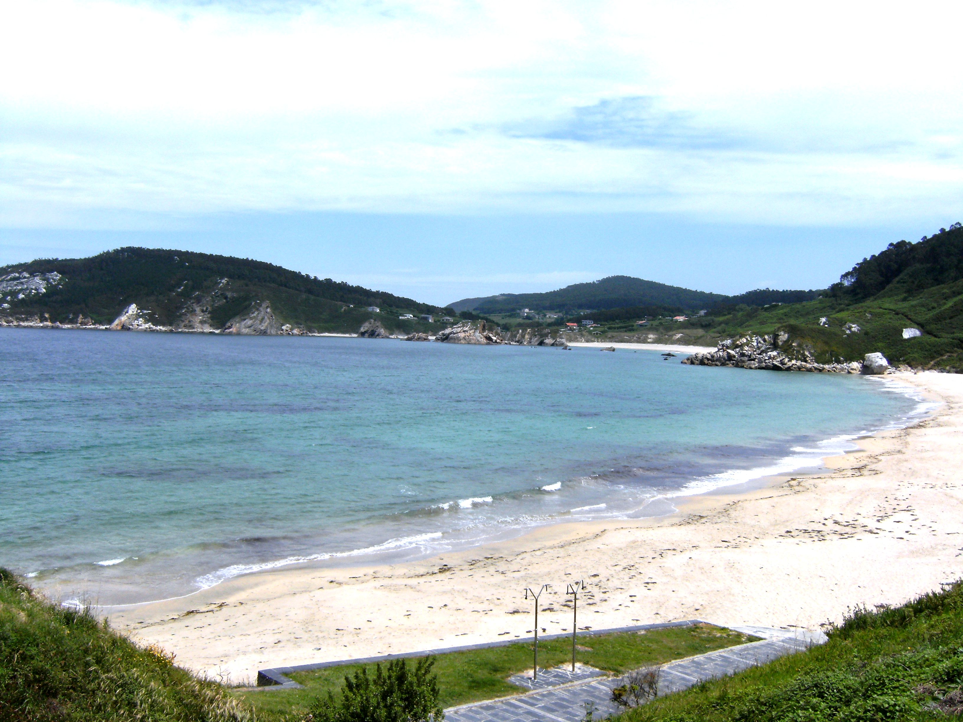 Foto playa A Concha. PLAYA SAN ANTONIO- ESPASANTE