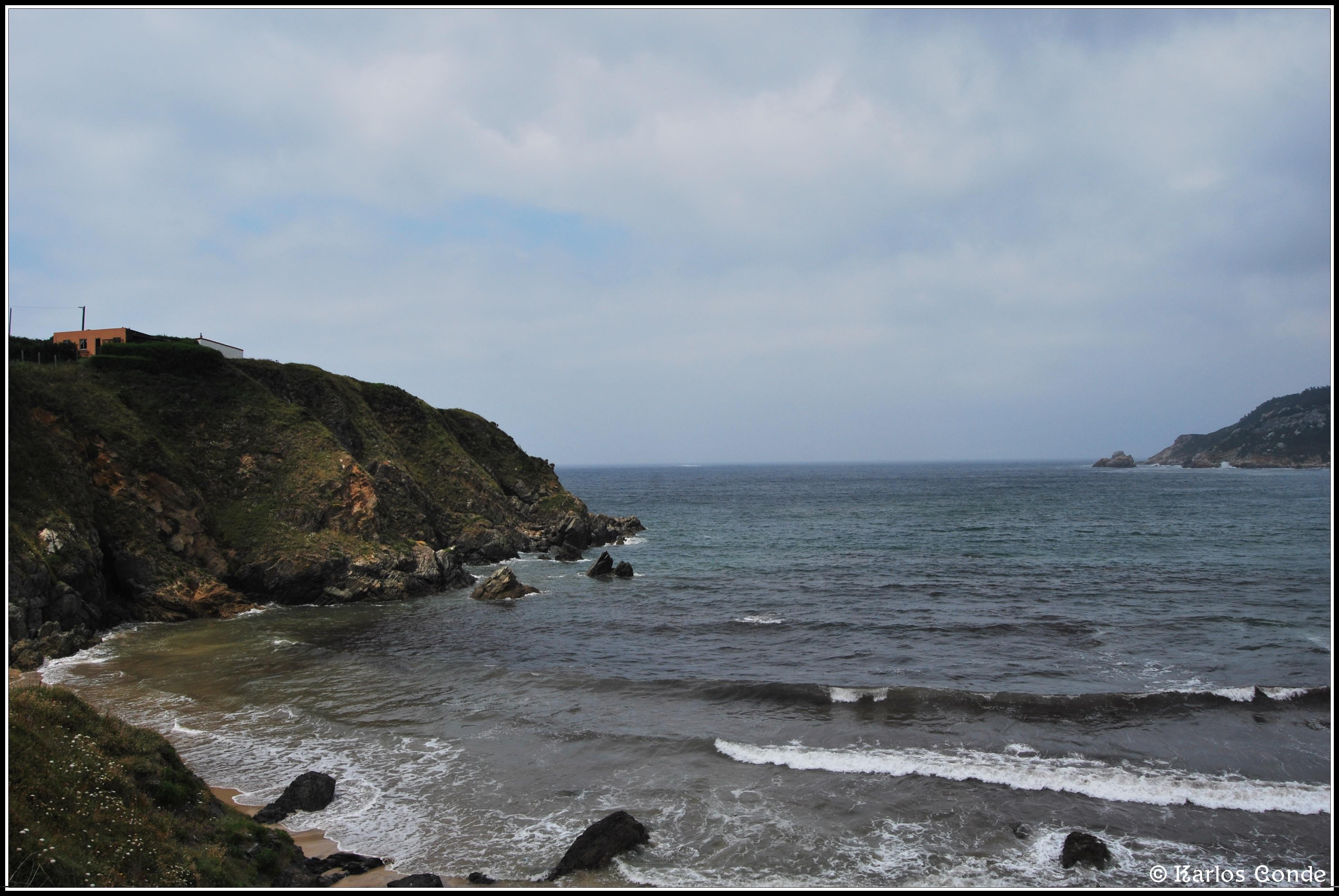 Foto playa A Concha. El Mirador de Espasante