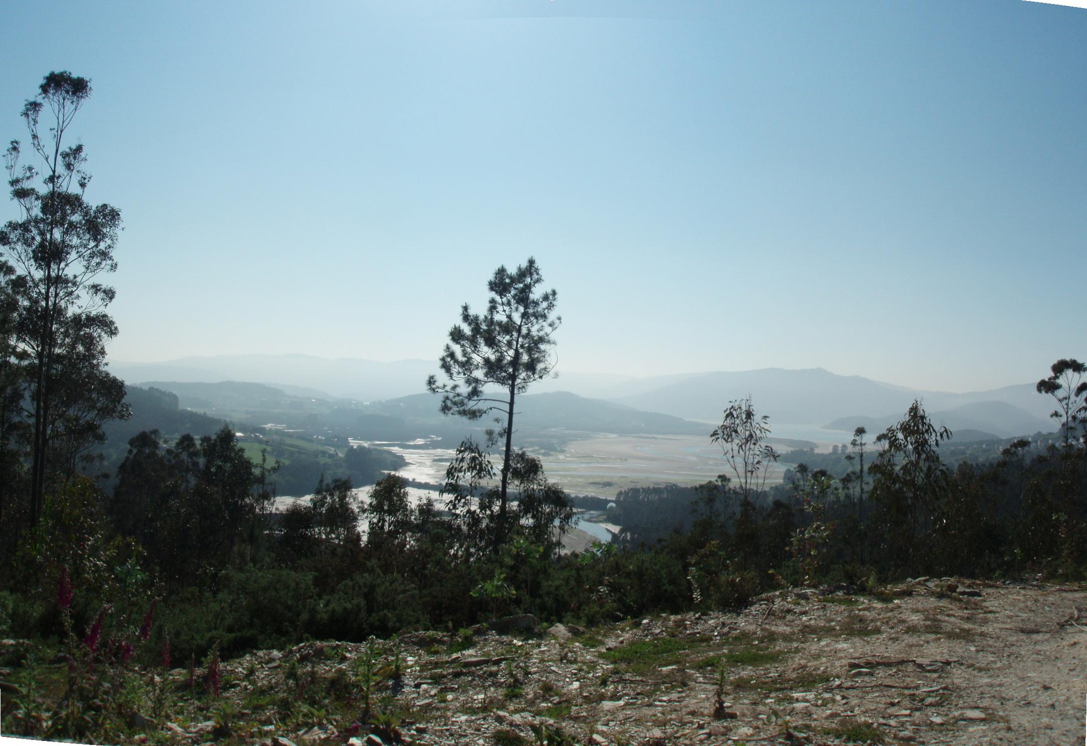 Foto playa Bimbieiro / Arxúa / Mazorgán. Vista desde Agromaior