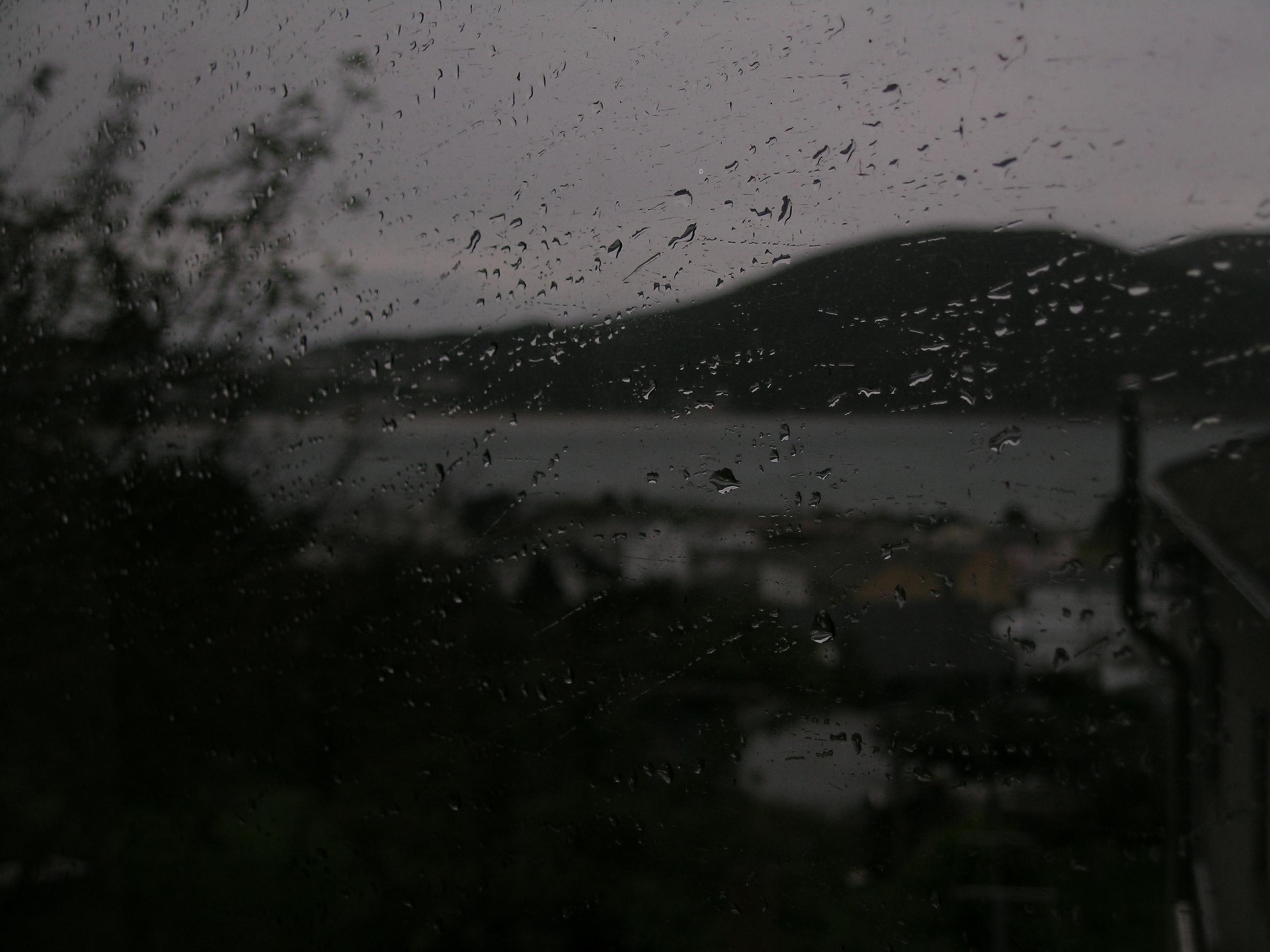 Foto playa Bimbieiro / Arxúa / Mazorgán. gotas de lluvia