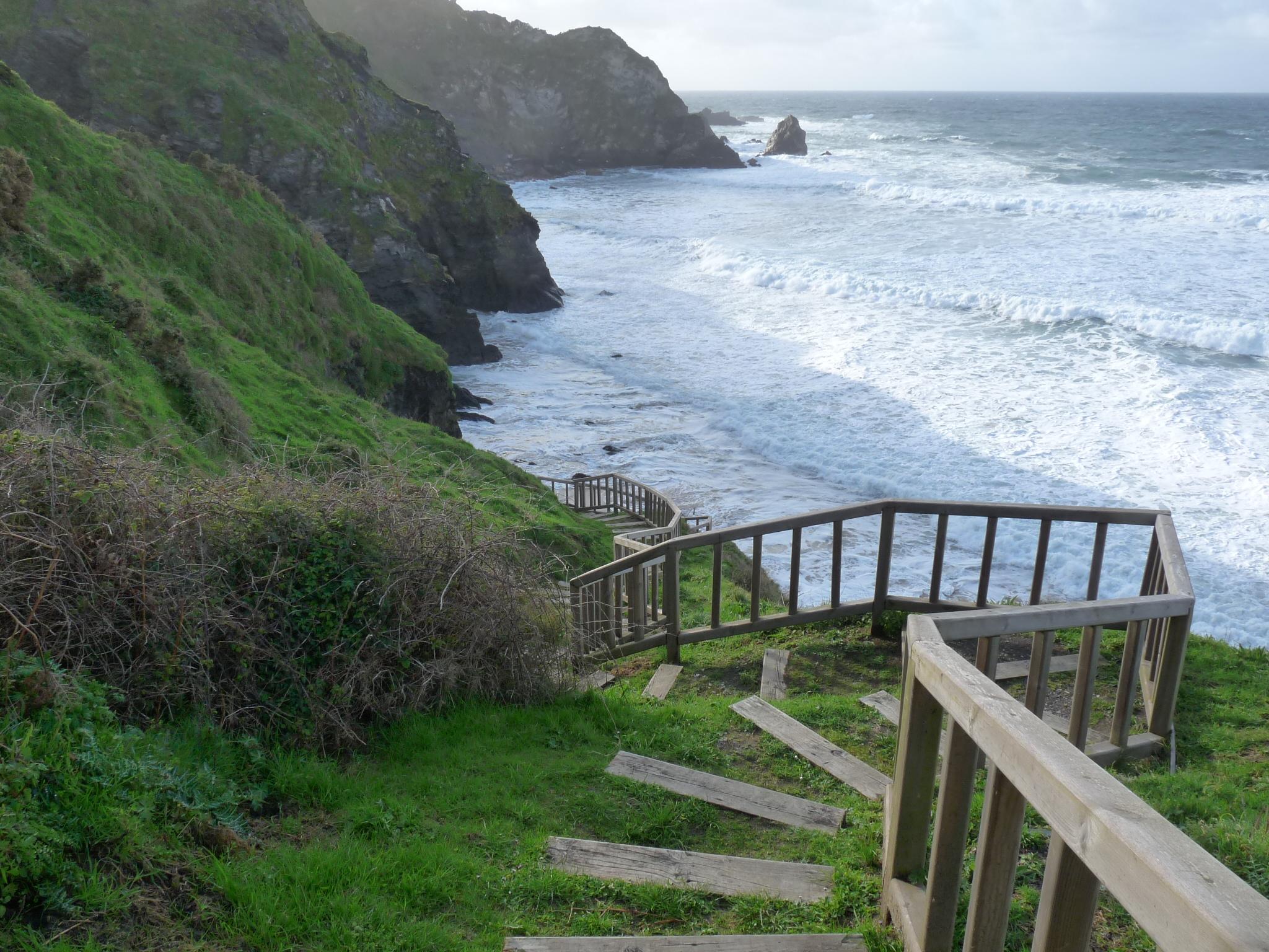Foto playa O Picón. Escalera, Playa de Picón