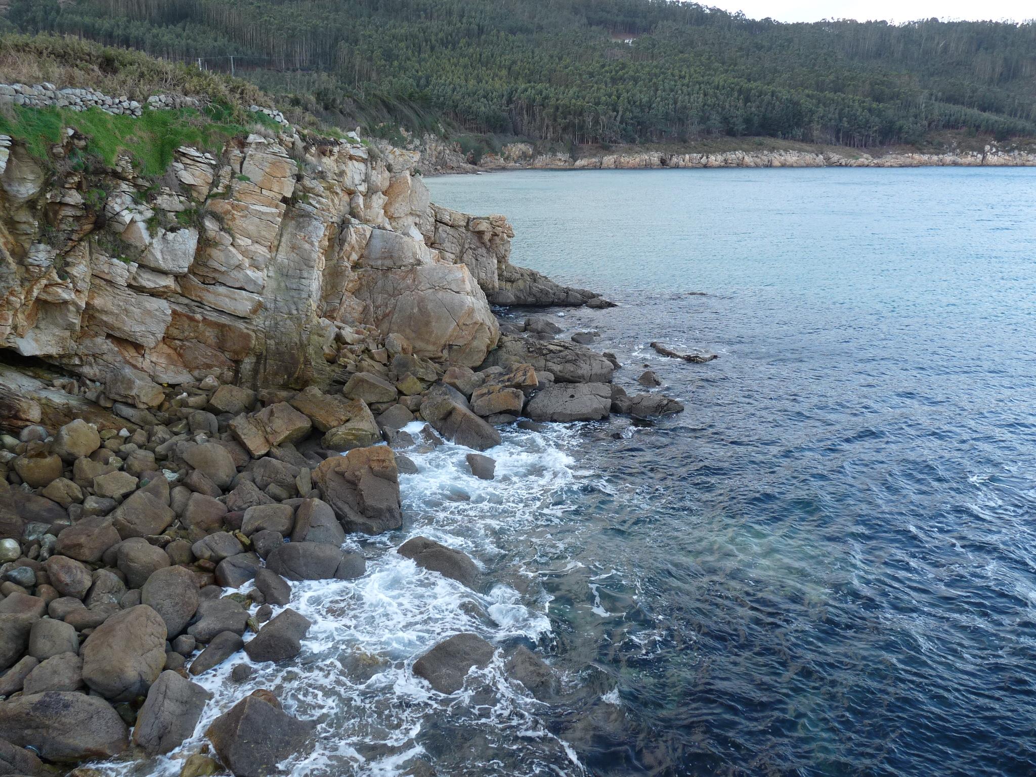 Foto playa Vilela. Costa de O Barqueiro