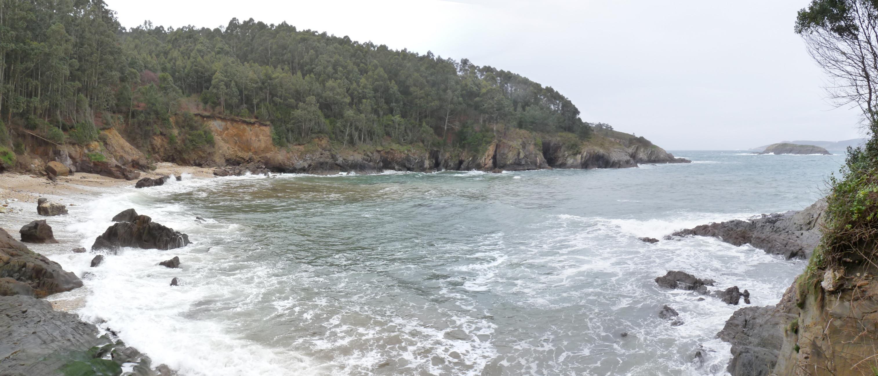 Foto playa Os Monxes / Alegrín. Playa de Alegrín, Islote  A Gabeira al fondo