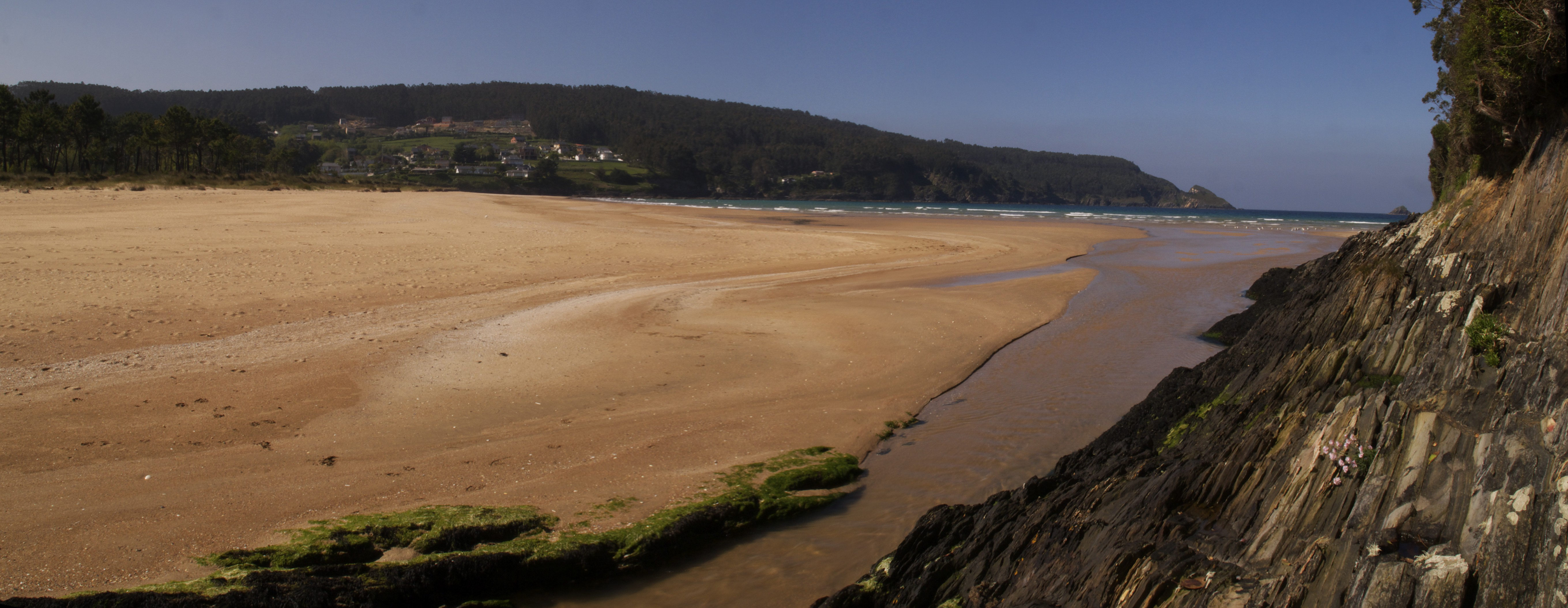 Foto playa Sacido. Praia de Abrela