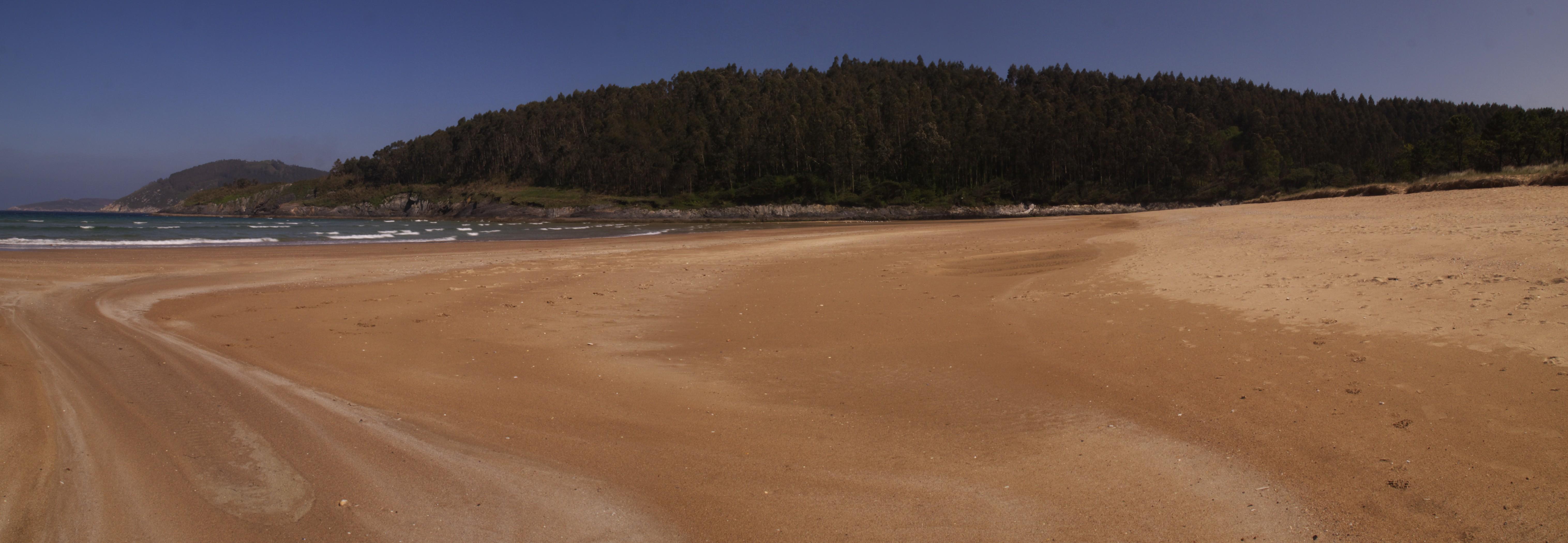 Foto playa Sacido. Abrela