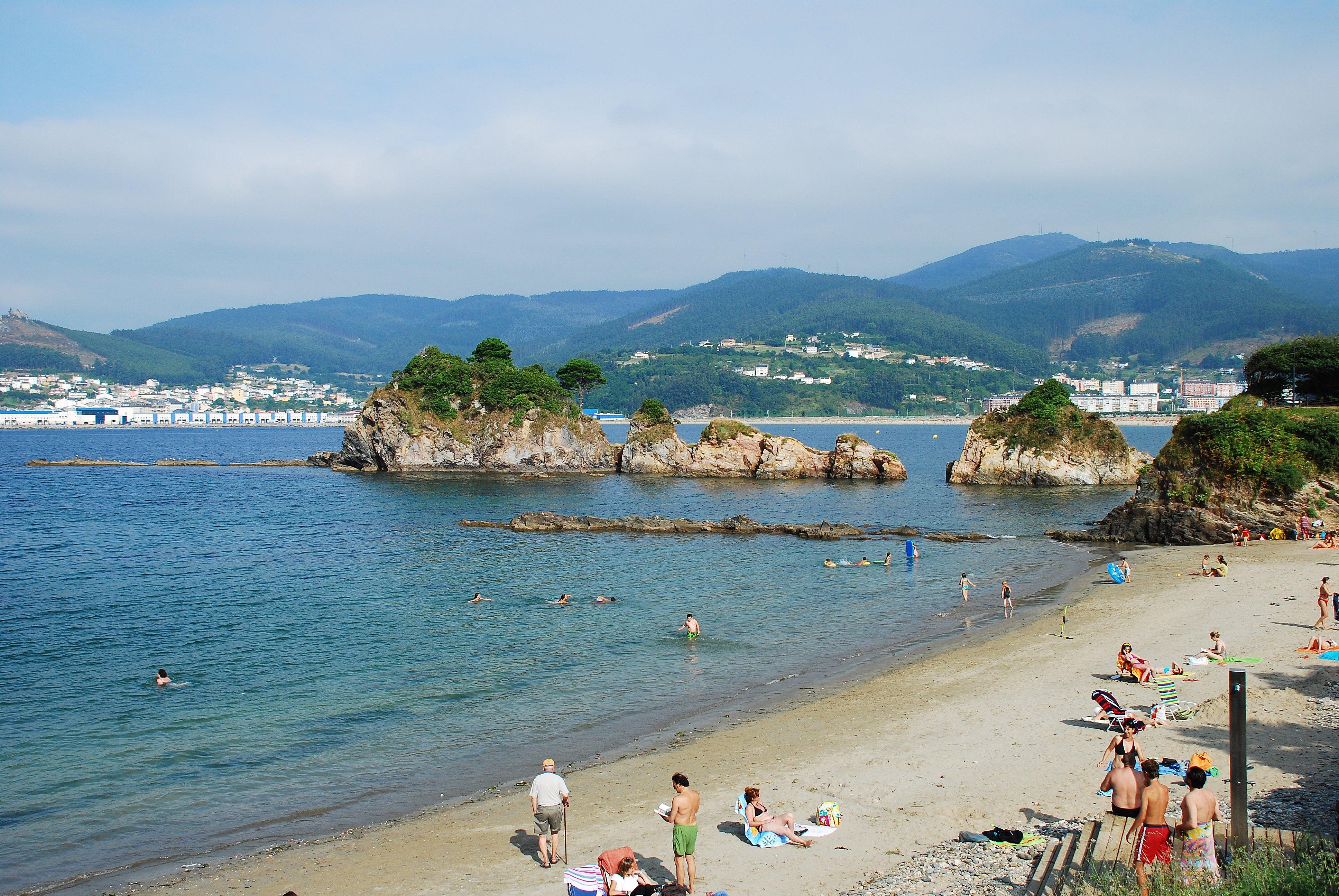 Foto playa Seiramar / Falla. Playa de covas viveiro Lugo España
