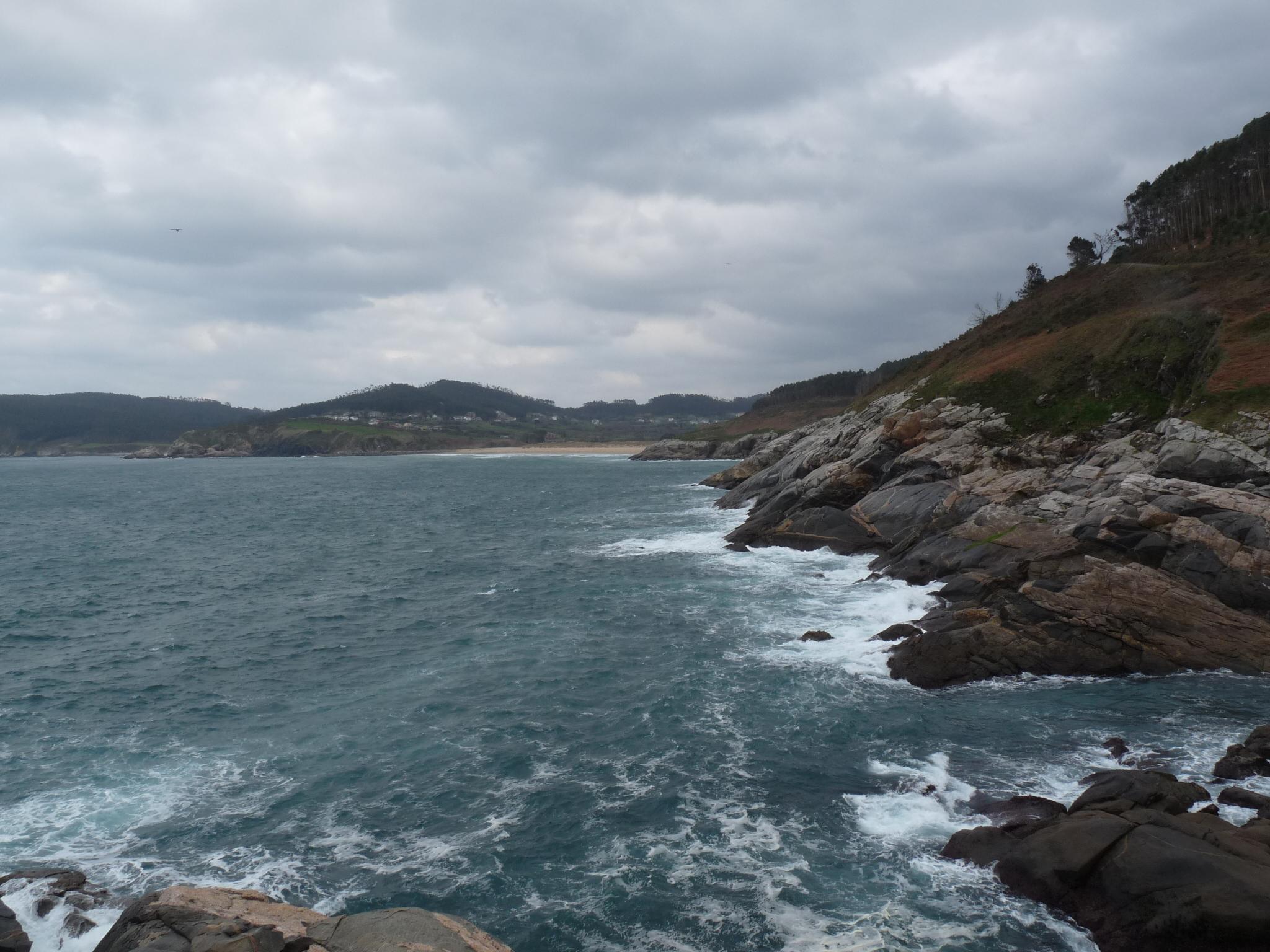 Foto playa Portonovo. Playa de Esteiro desde Punta Pardiñas