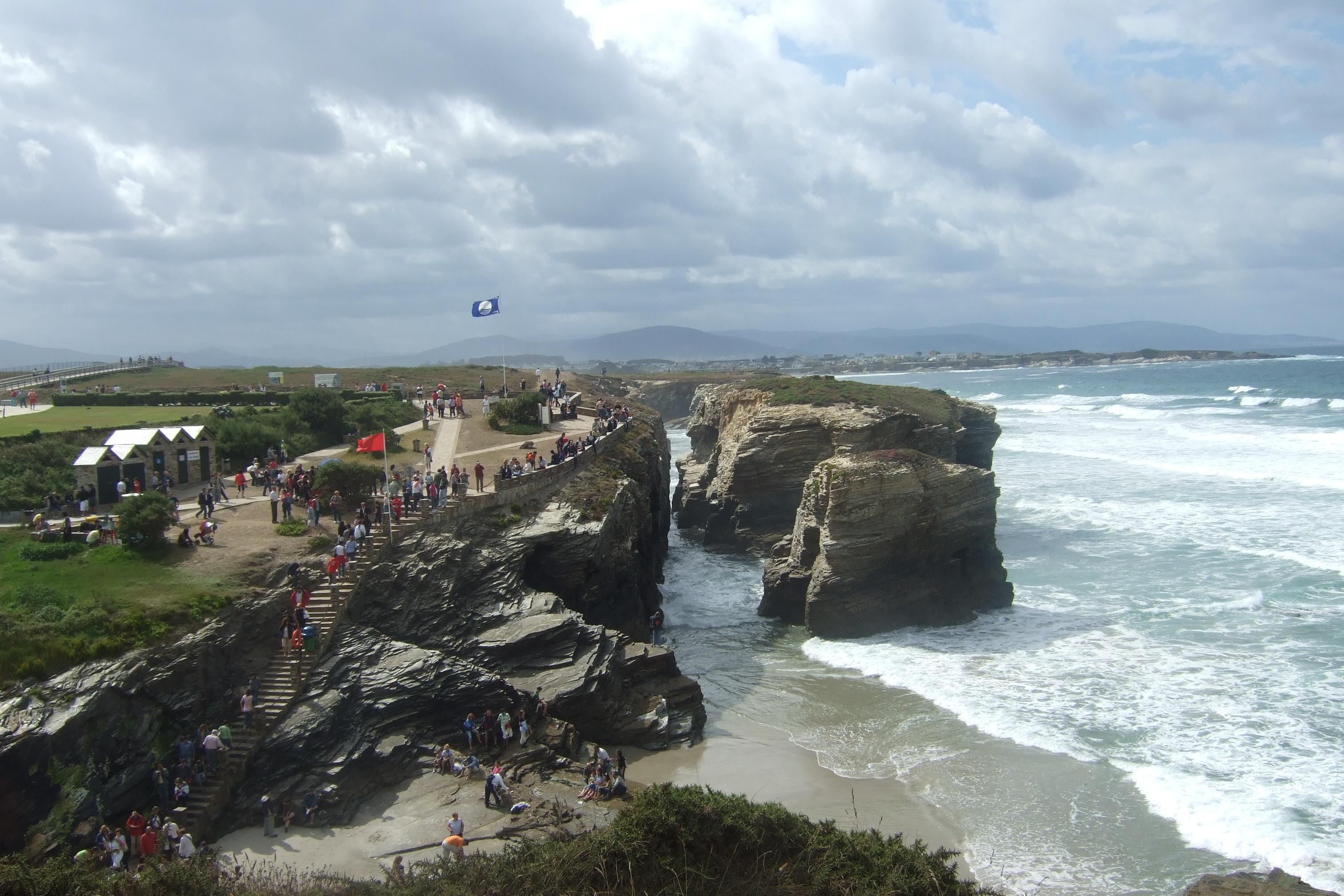 Foto playa A Marosa. Les Catedrals