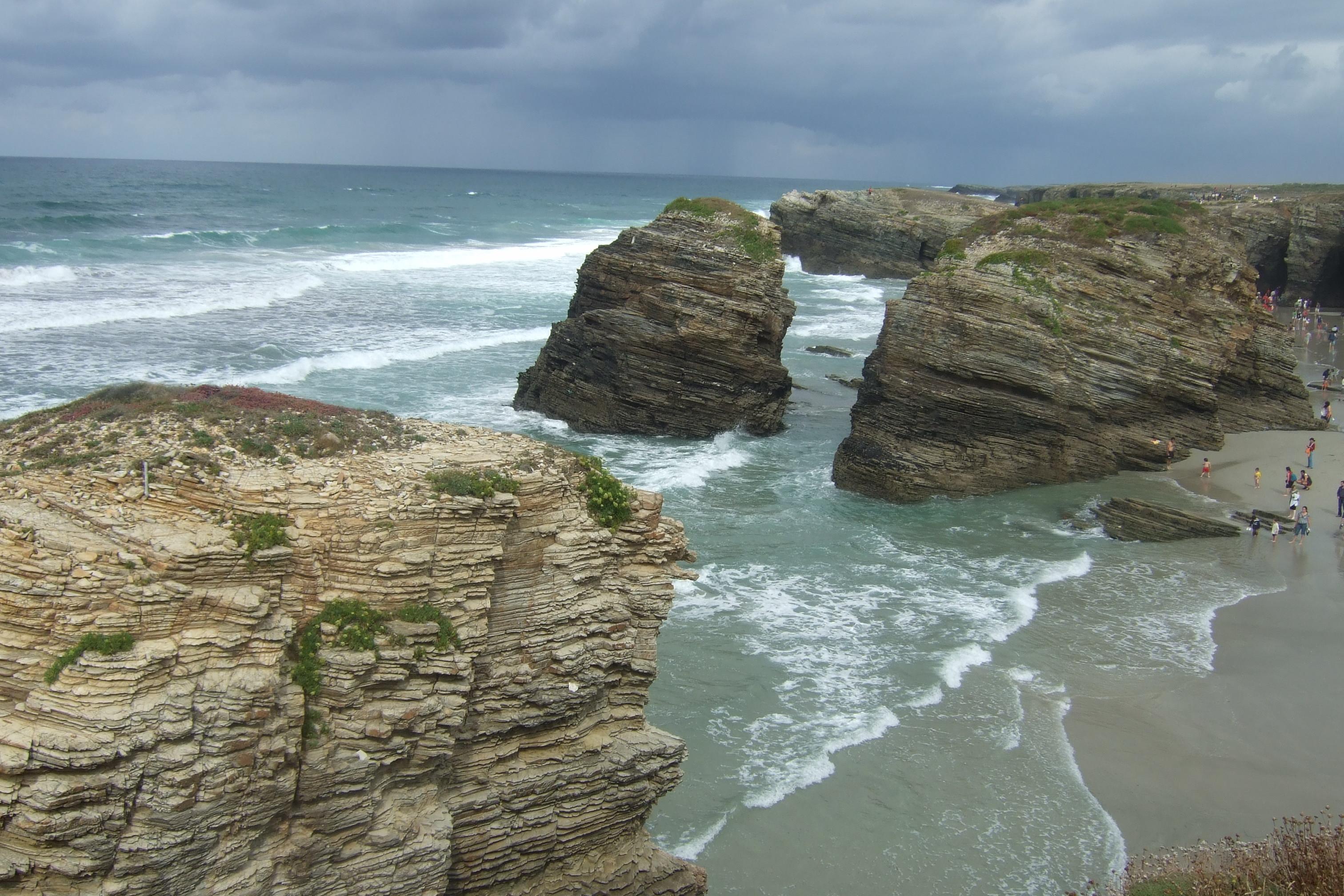 Foto playa A Marosa. Platja de les catedrals
