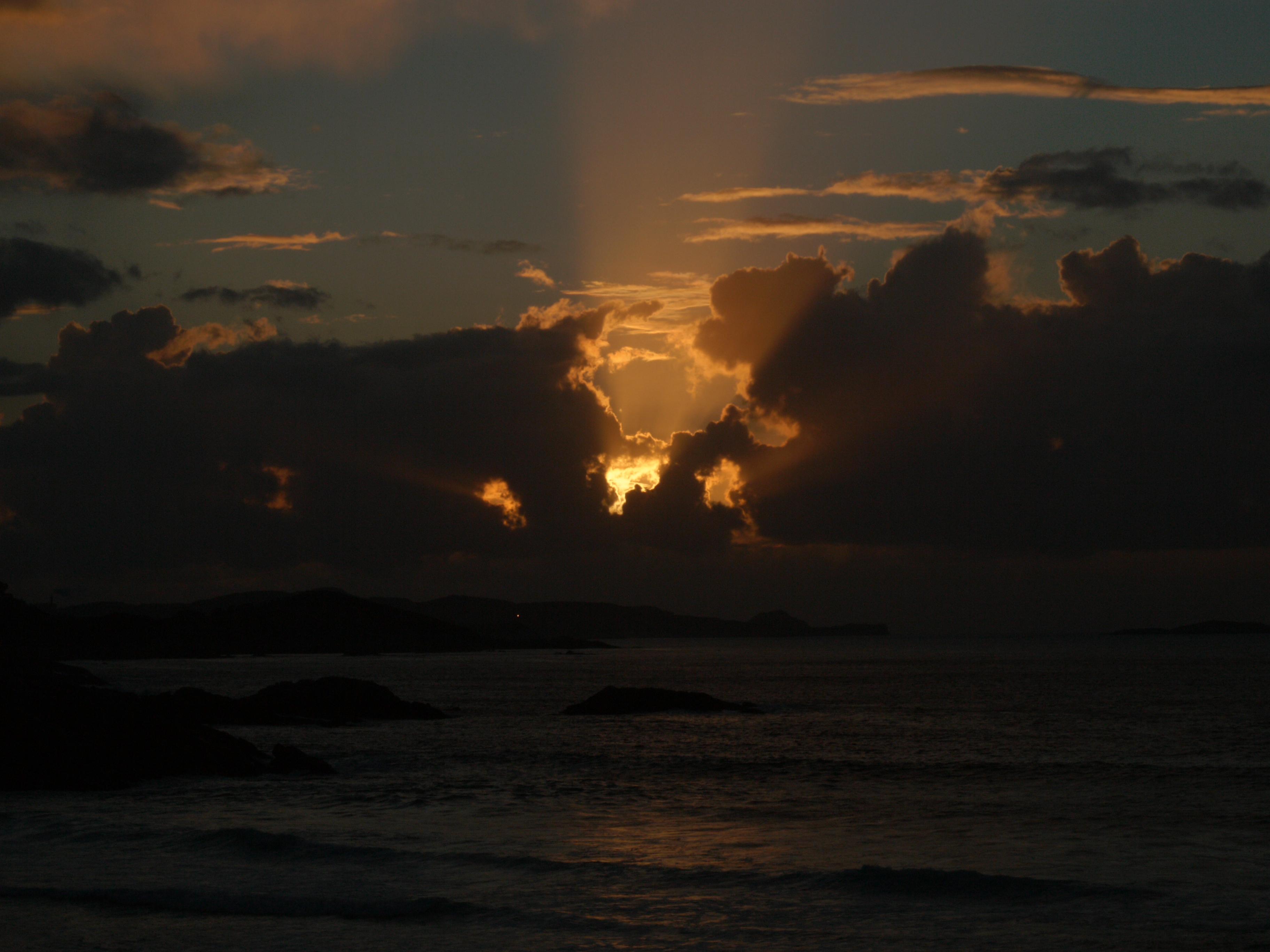 Foto playa A Marosa. Solpor