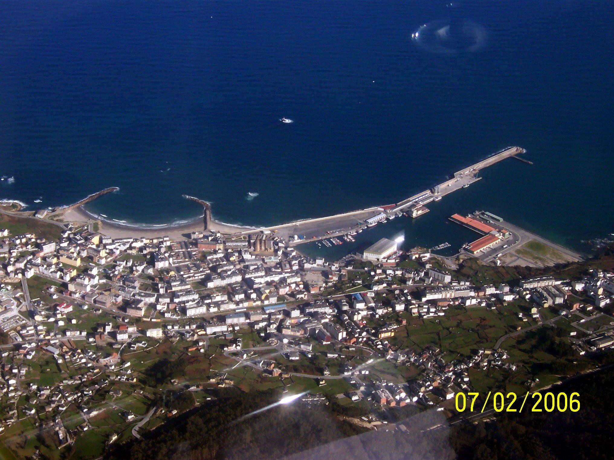 Foto playa Ril. Vista Aérea de Burela