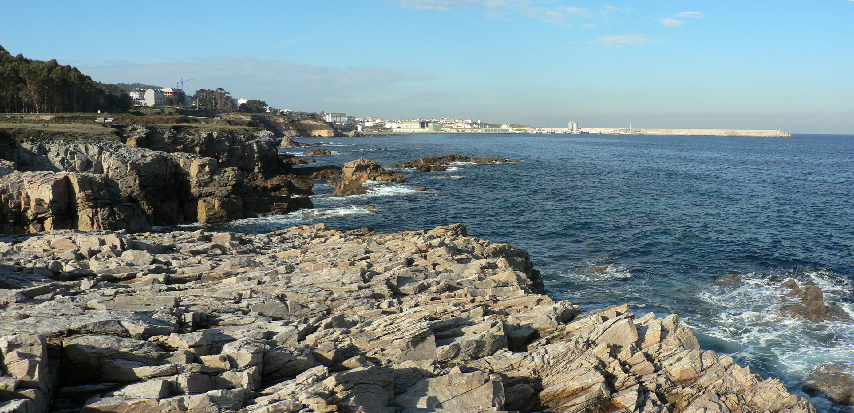 Foto playa Areoura. BURELA vista desde O Cantiño