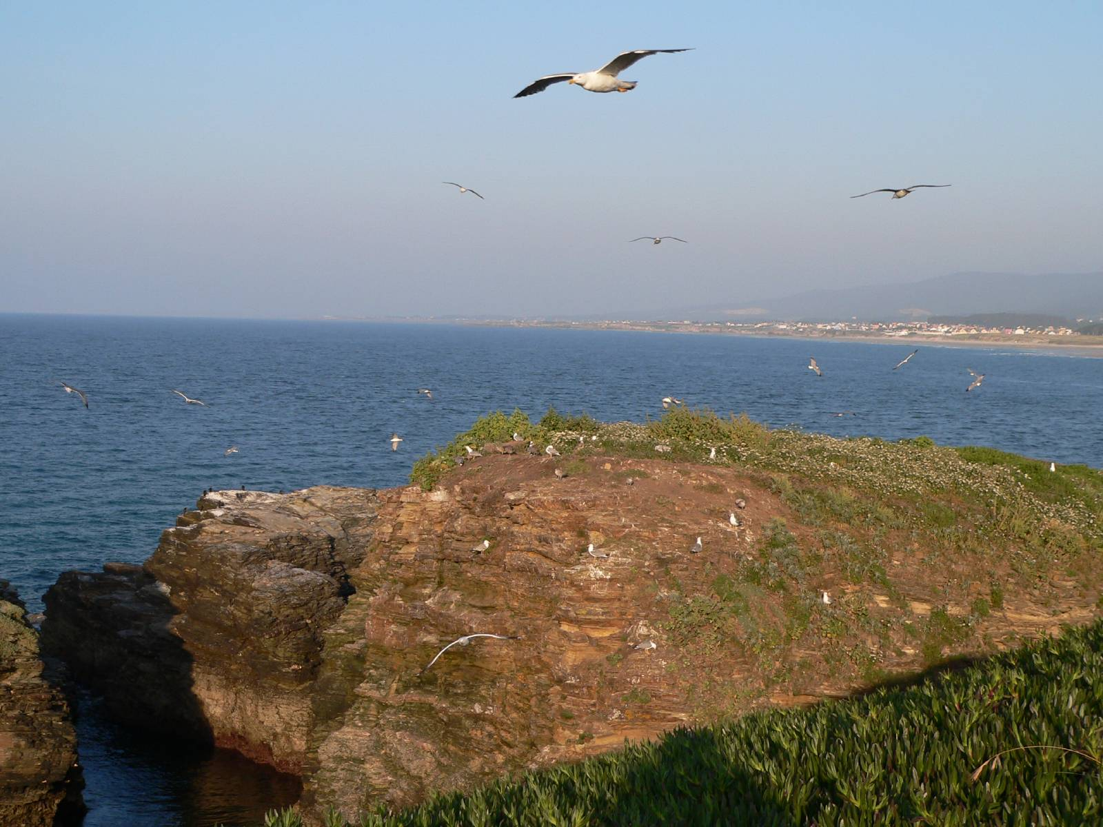 Foto playa A Rapadoira. Playa de la rapadoira foz lugo galicia España