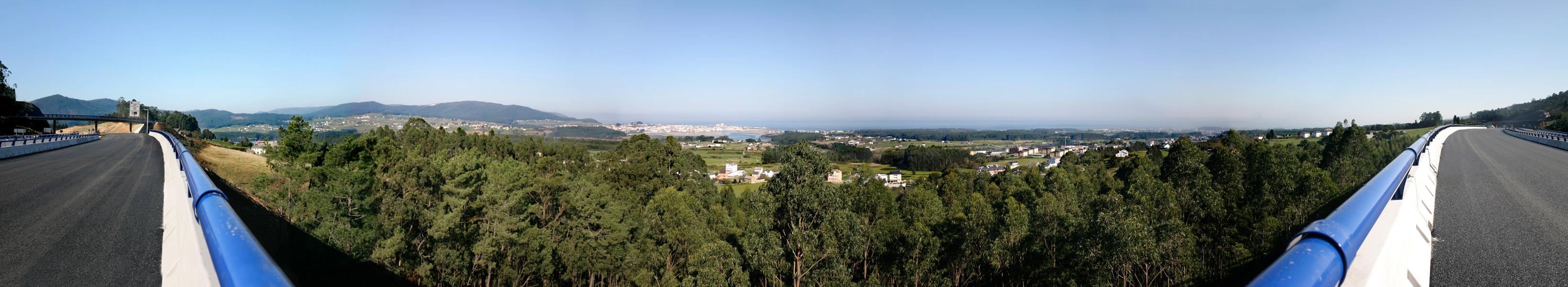 Foto playa Fontela / Balea. Panoramica desde A8