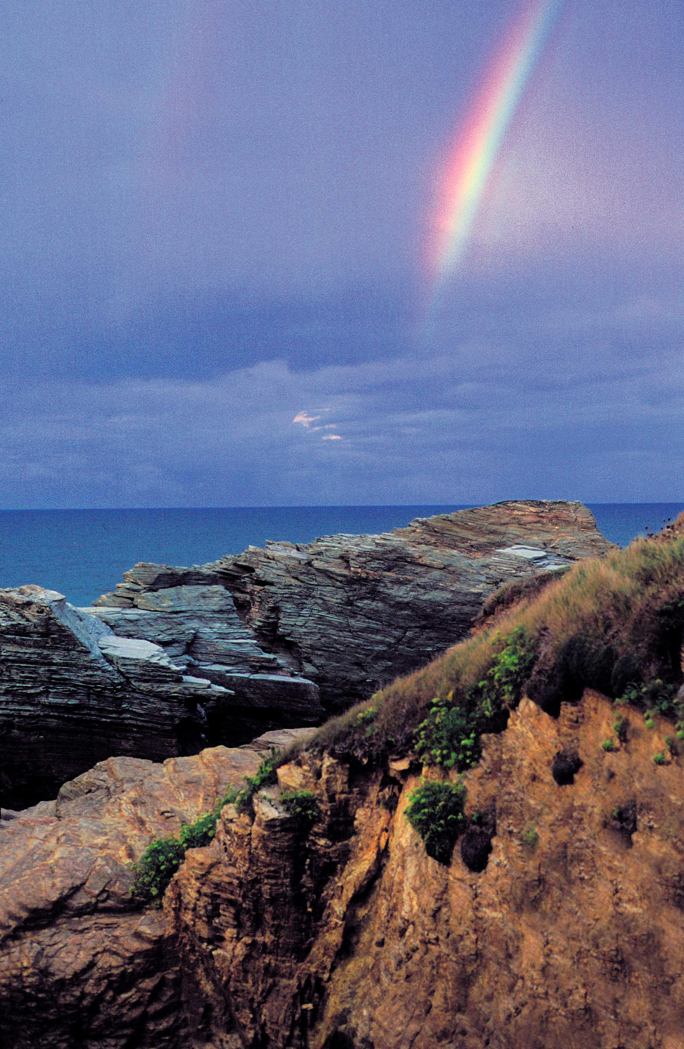 Foto playa Lóngara. Rainbow (playa de las catedrales)