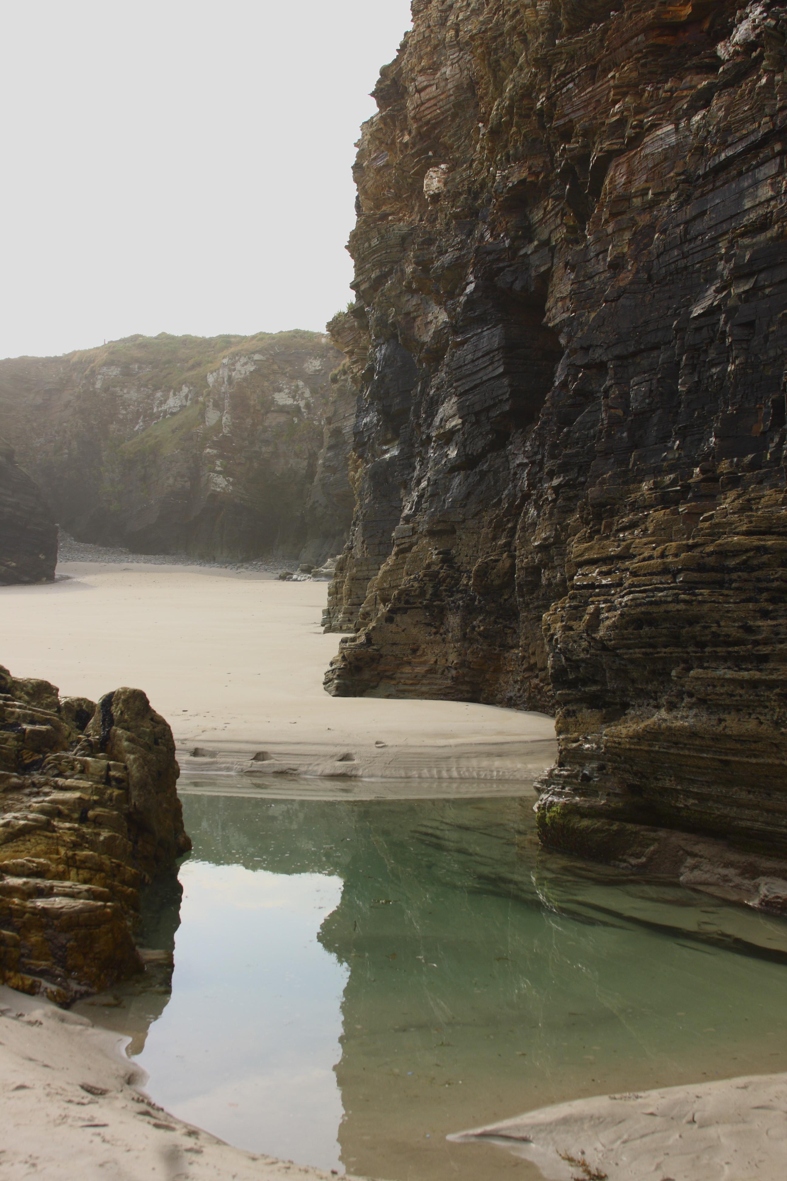 Foto playa Lóngara. Reflexo
