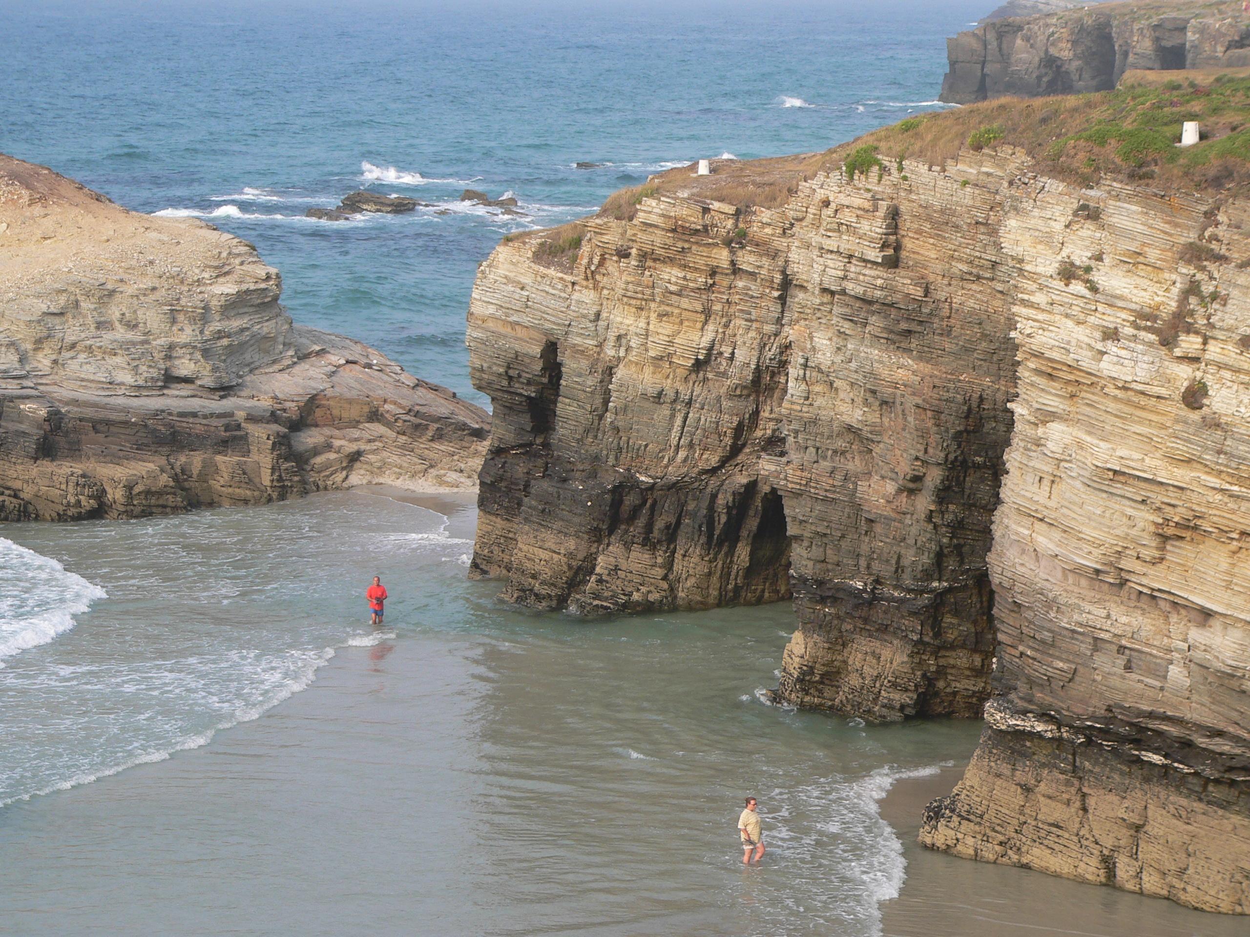 Foto playa As Catedrais / Las Catedrales / Carricelas / Augasantas. Ribadeo Playa de las catedrales lugo Galicia España