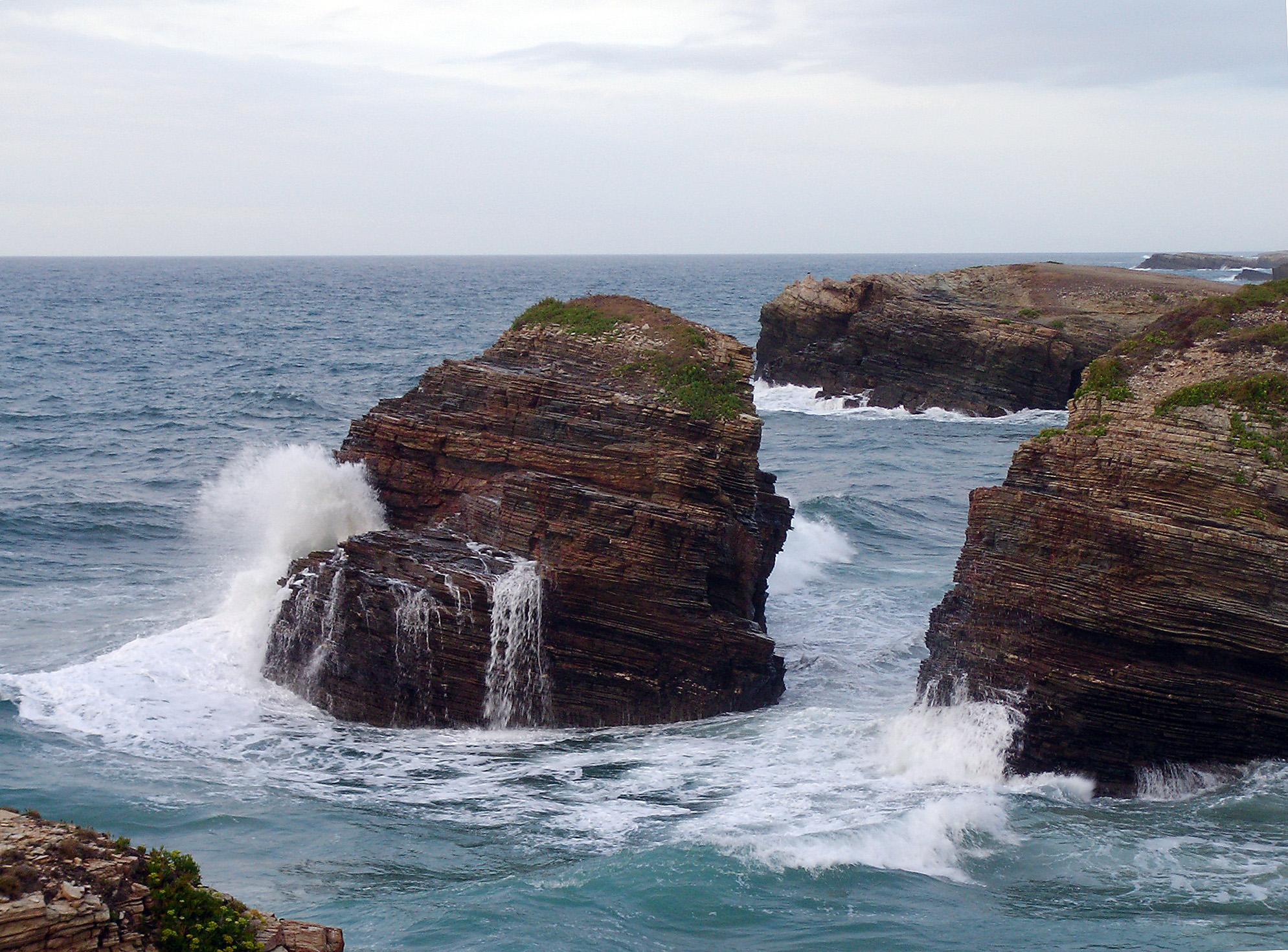 Foto playa Rocas Brancas. costa de Ribadeo