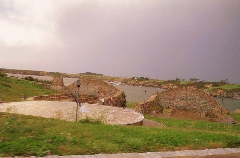 Foto playa O Cargadoiro. Ribadeo Castros celtas