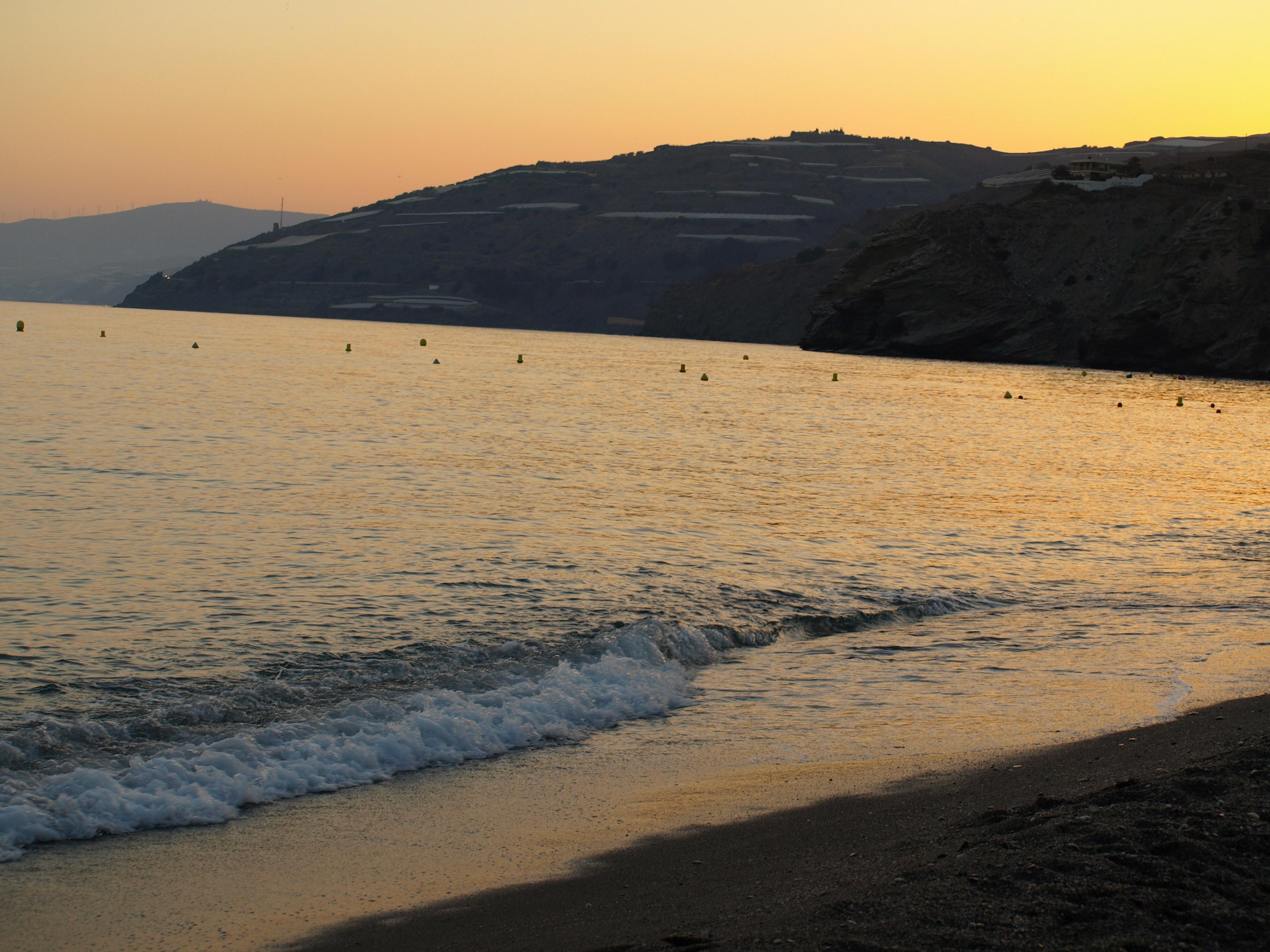 Foto playa La Rábita. Vista del mar