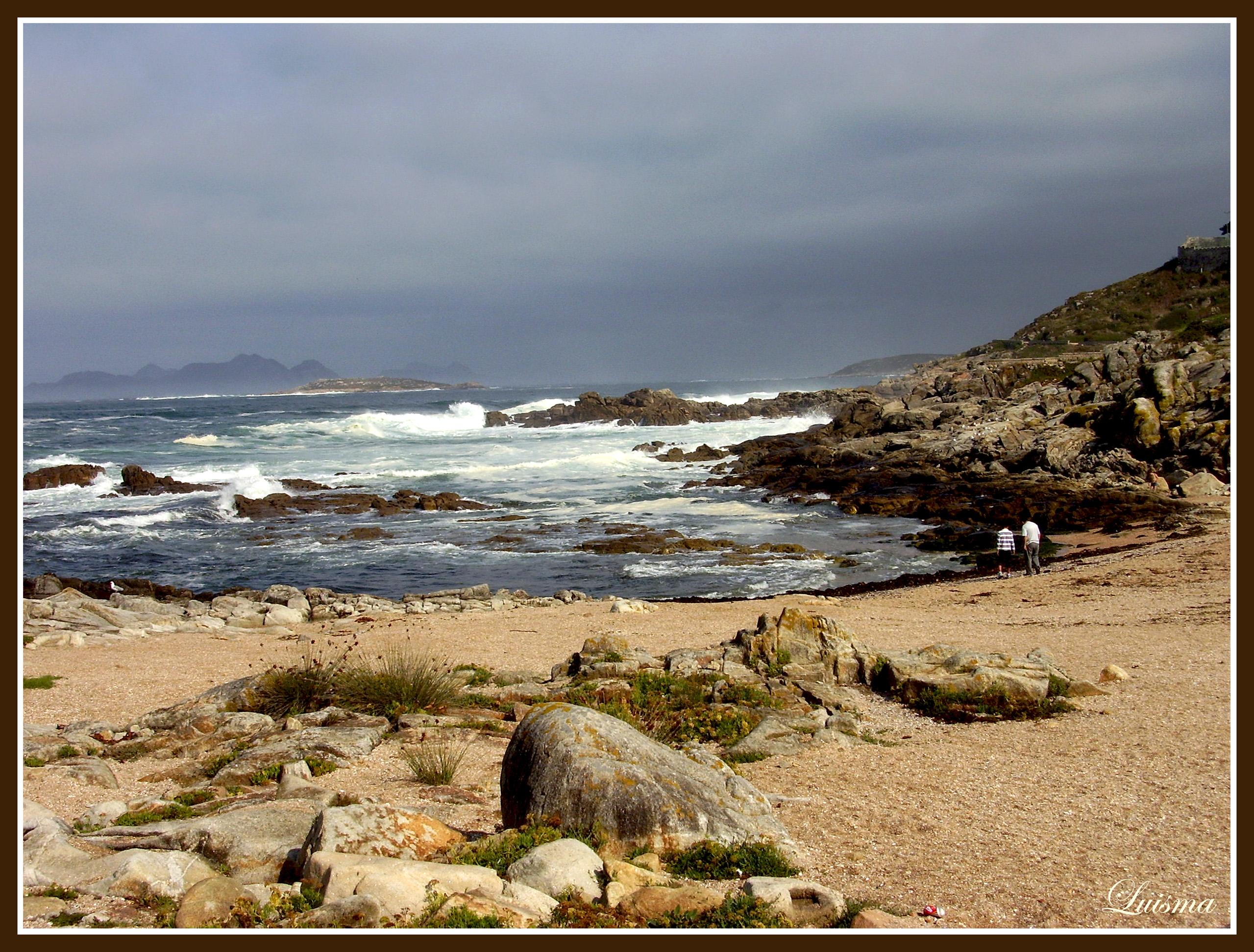 Foto playa Carreiro. playa gallega