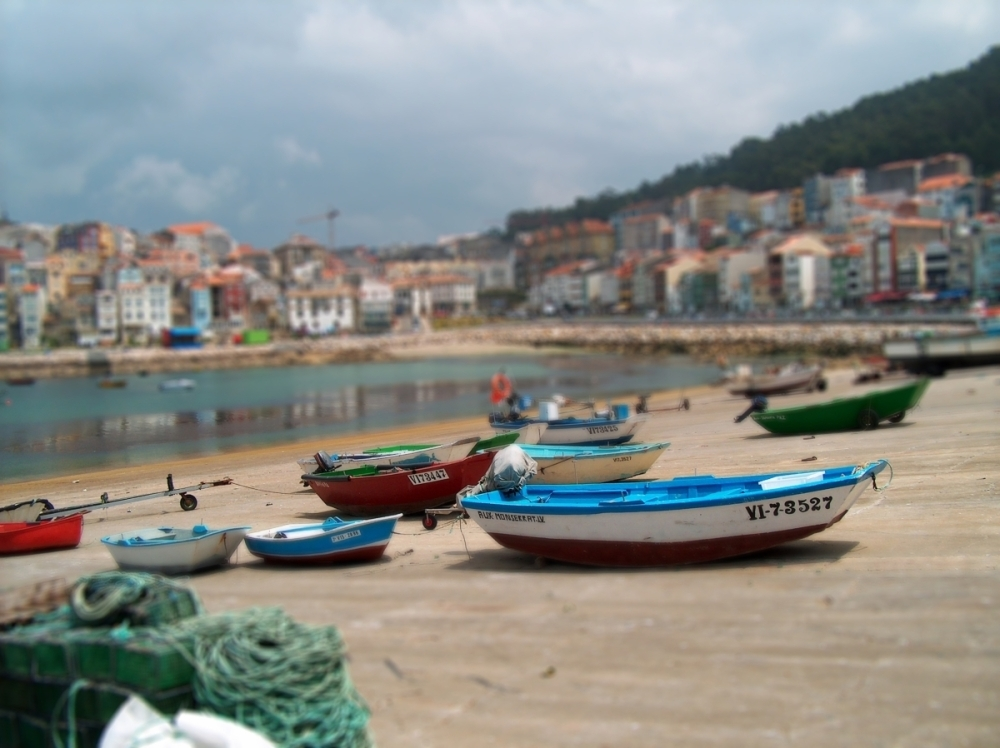 Foto playa Carreiro. Harbour, A Guarda, Spain