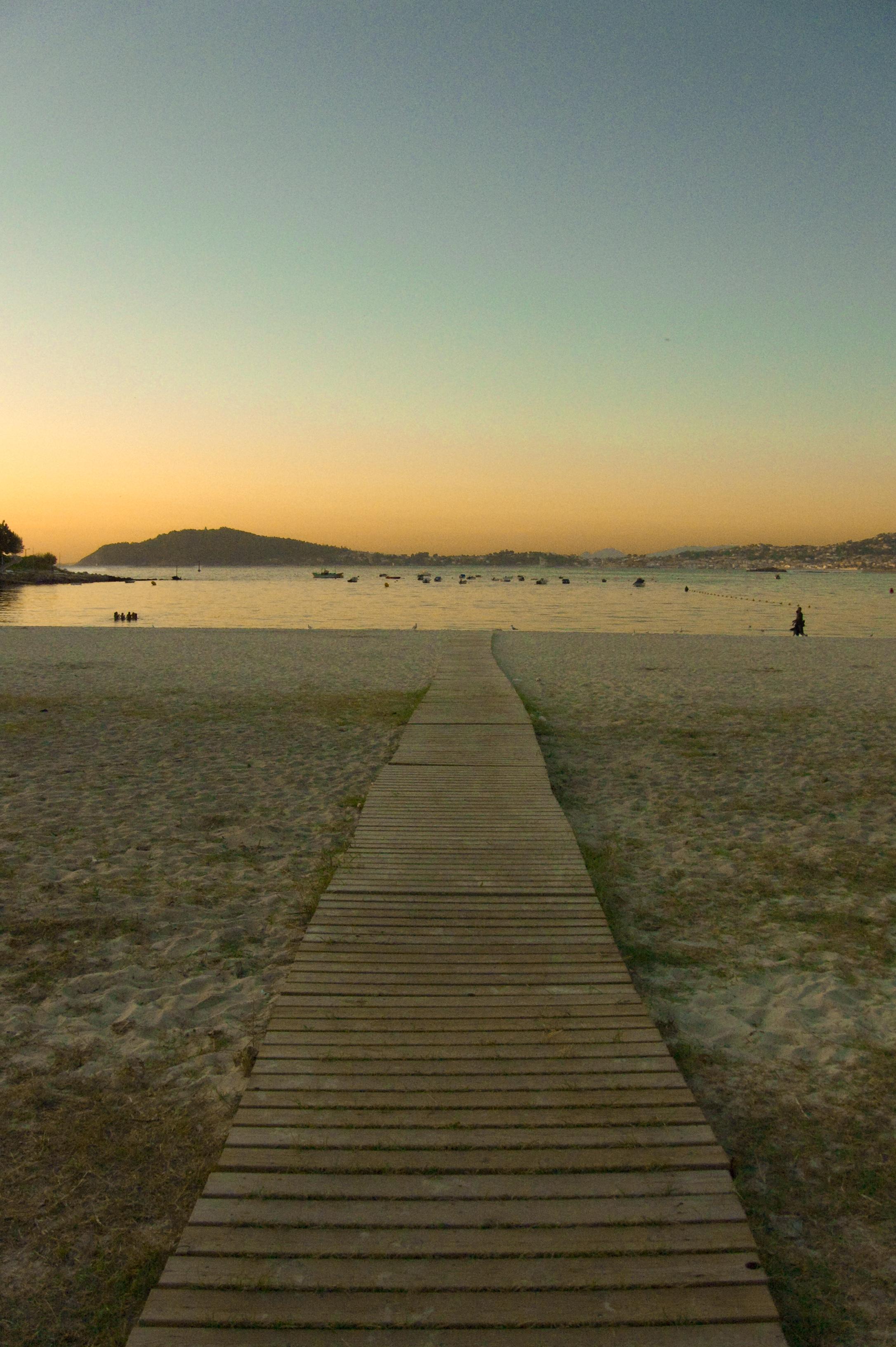 Foto playa Ladeira. Camino al atardecer.