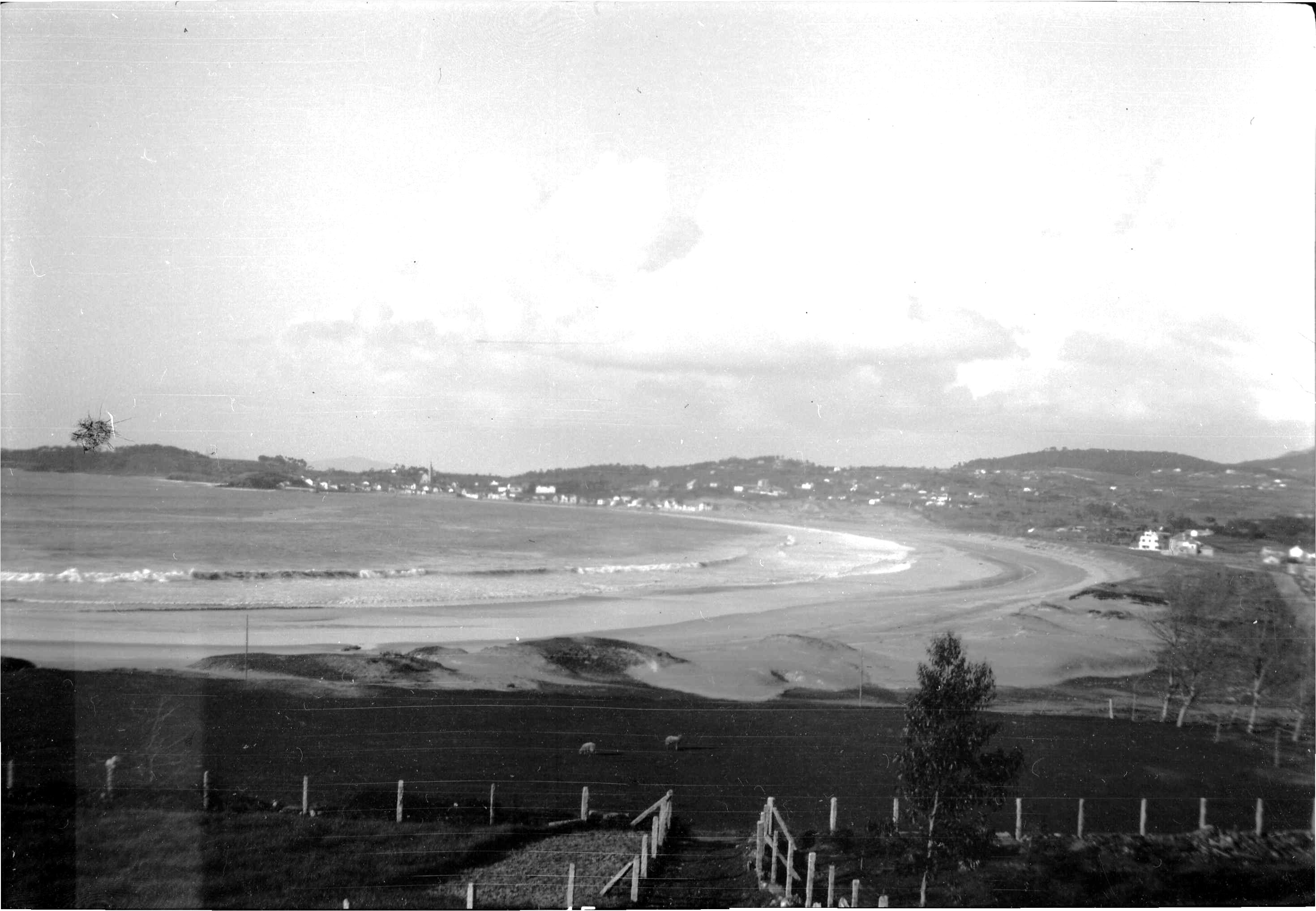 Foto playa América. Playa América (Años 50)