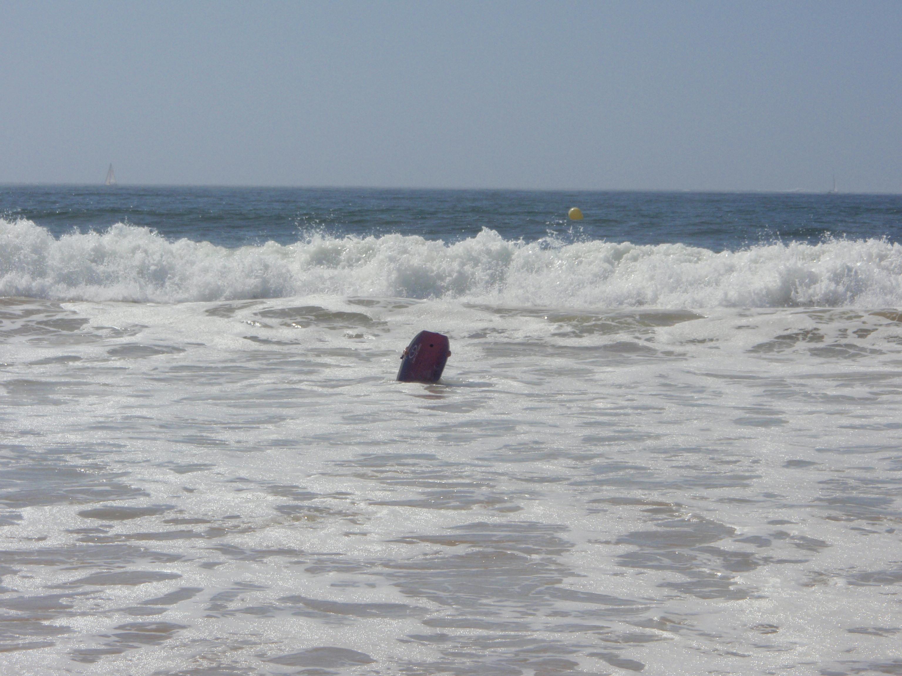 Foto playa América. Olas en playa america