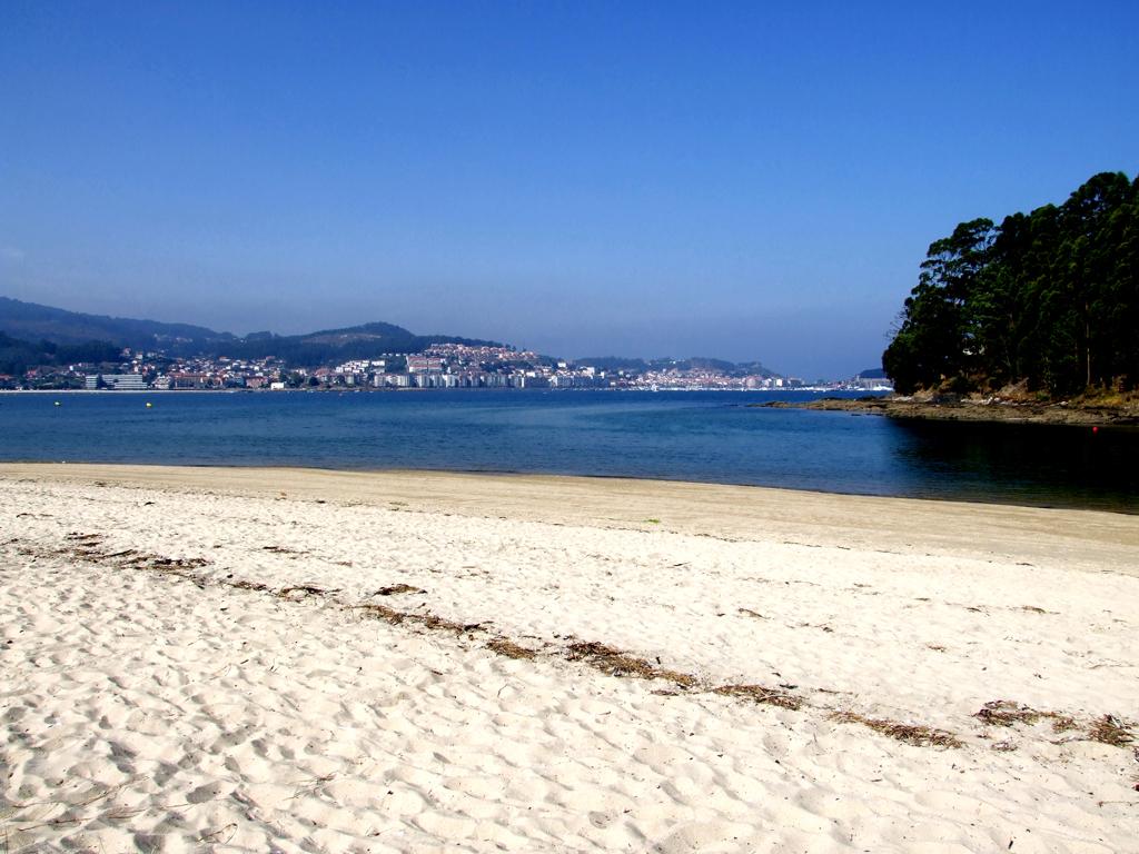 Foto playa América. White sand