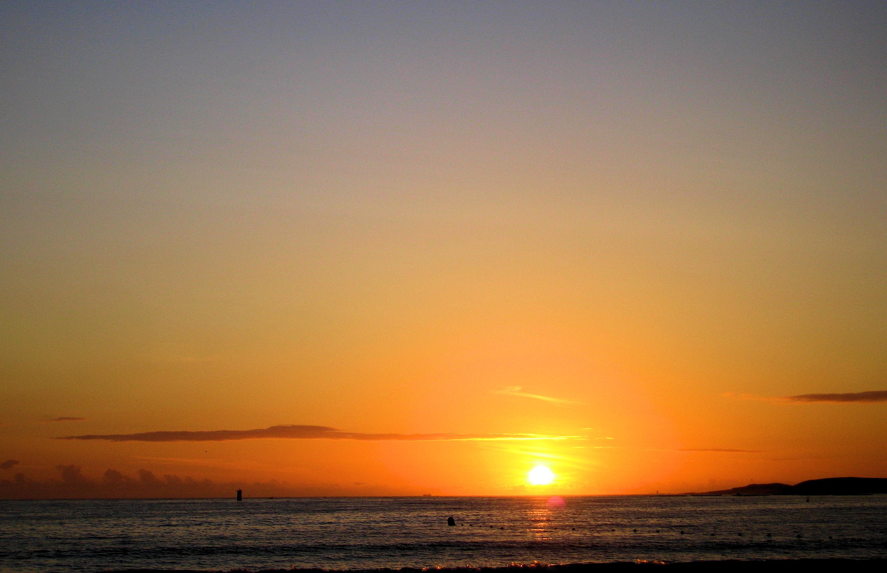 Foto playa Panxón / Xan Xoan / Area Alta. la caída del sol