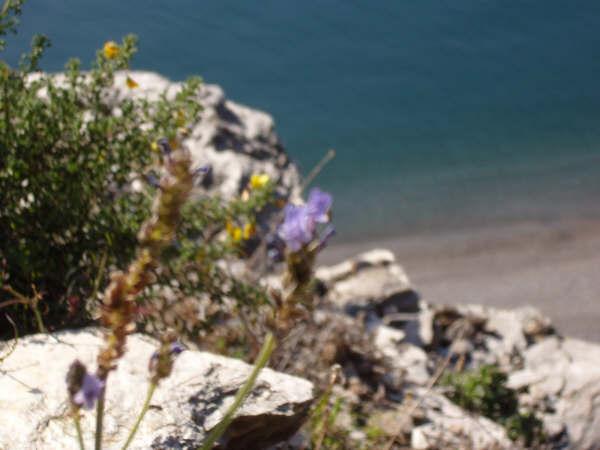 Foto playa El Ruso. Contrastes