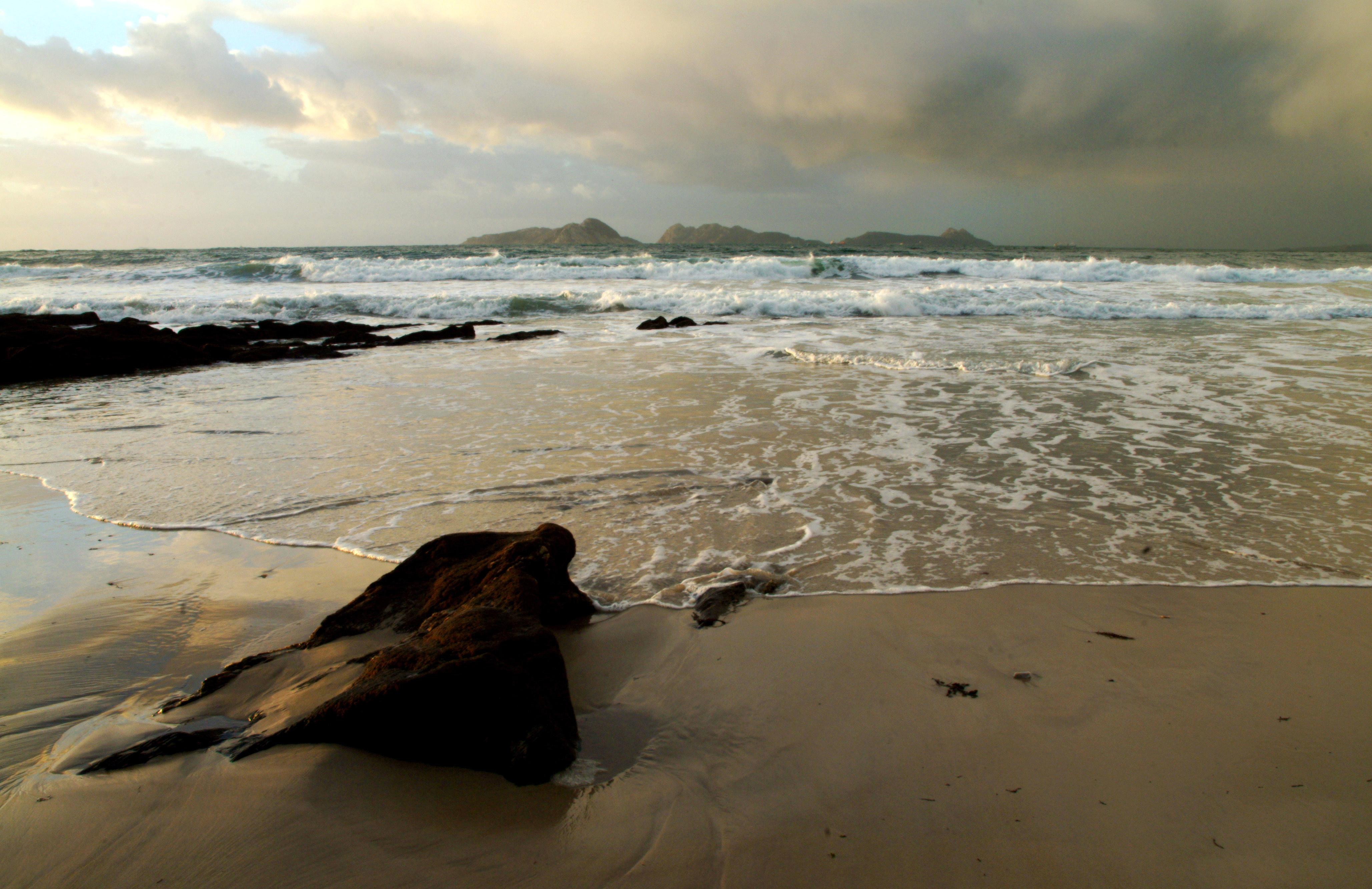 Foto playa O Portiño. Ría de Vigo, Cíes