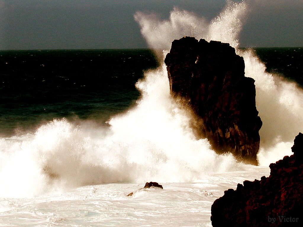 Foto playa La Maceta. Alto contraste / High contrast