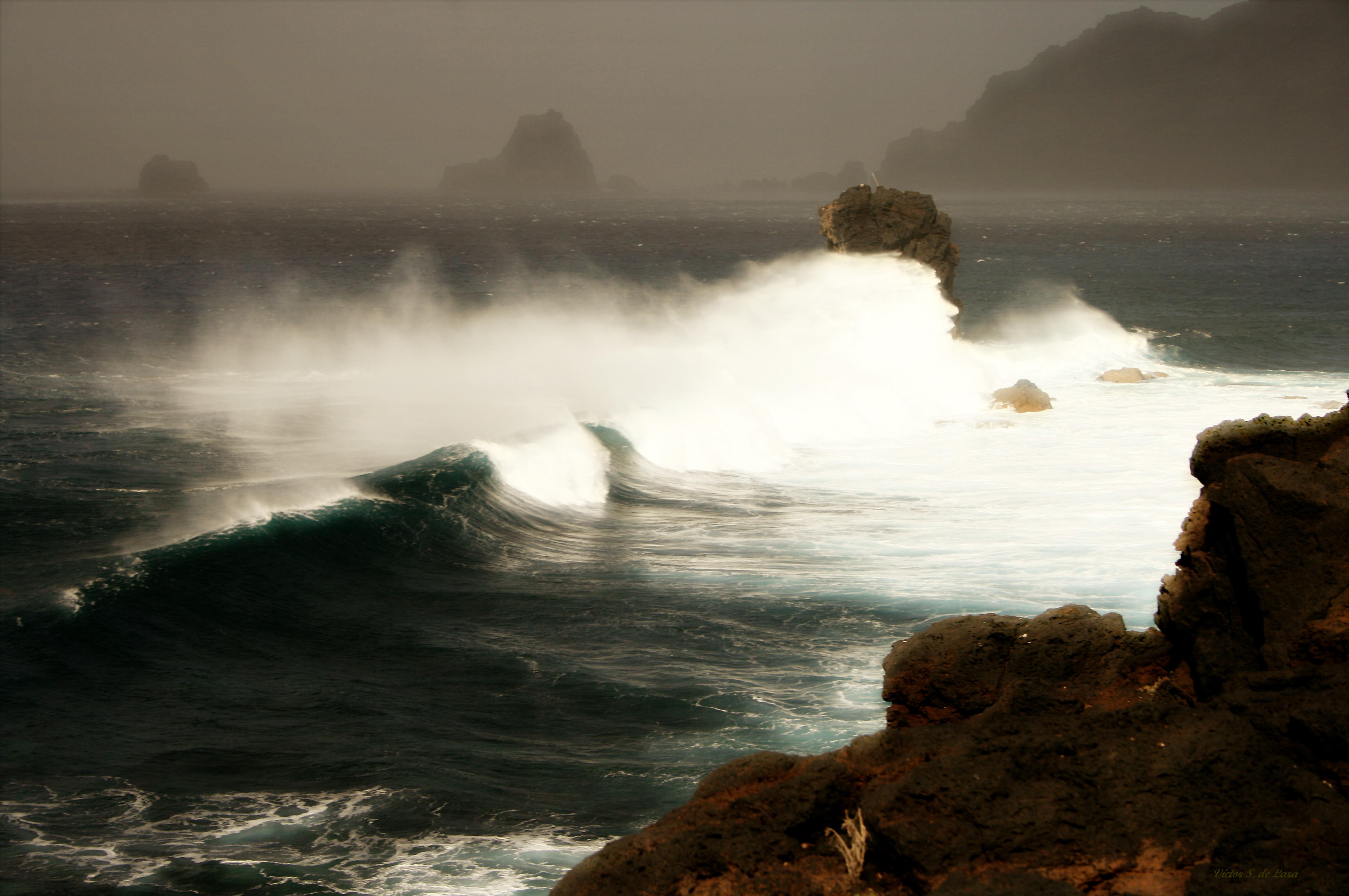 Foto playa Charco de los Sargos. El rostro de Neptuno ( Neptuno´s face )