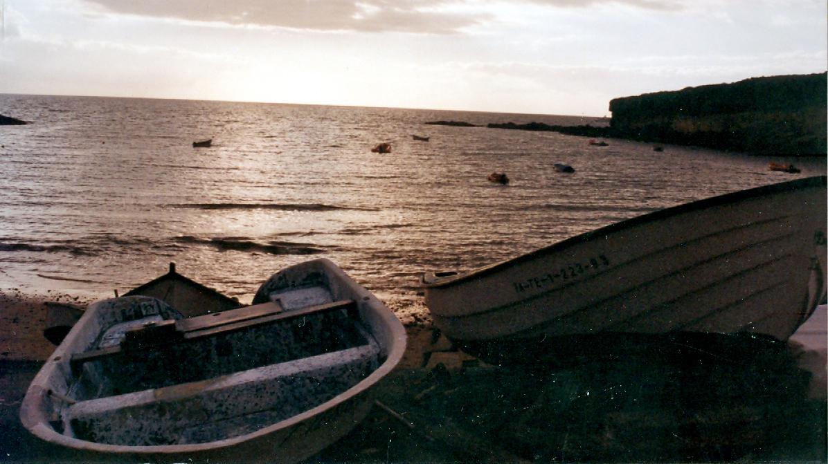 Foto playa El Verodal. atardecer