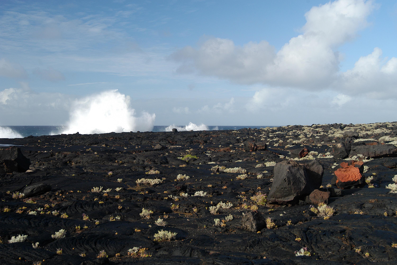 Foto playa Puerto Naos. Lava field near Restinga (El Hierro, Canary Island)