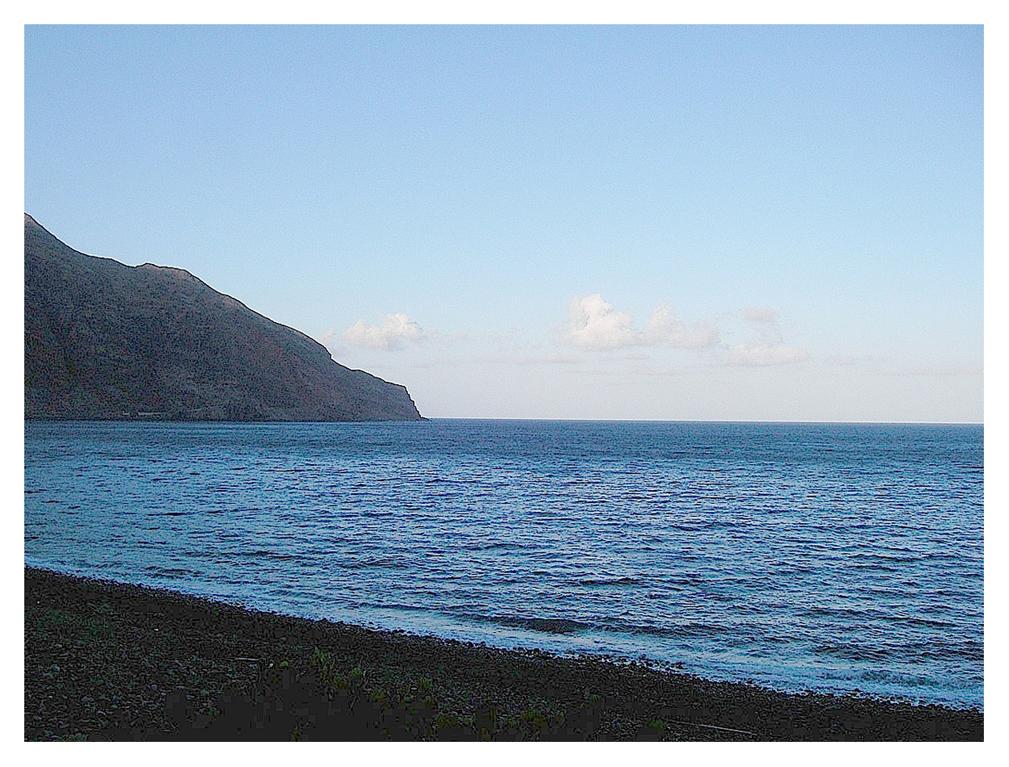 Foto playa Las Playas. Lengua de mar al atardecer