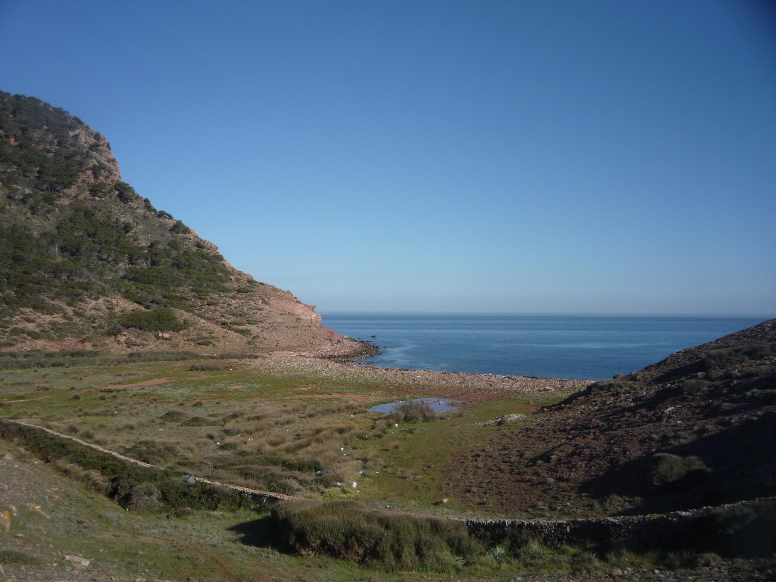 Foto playa Cala del Pilar. Pla de Mar