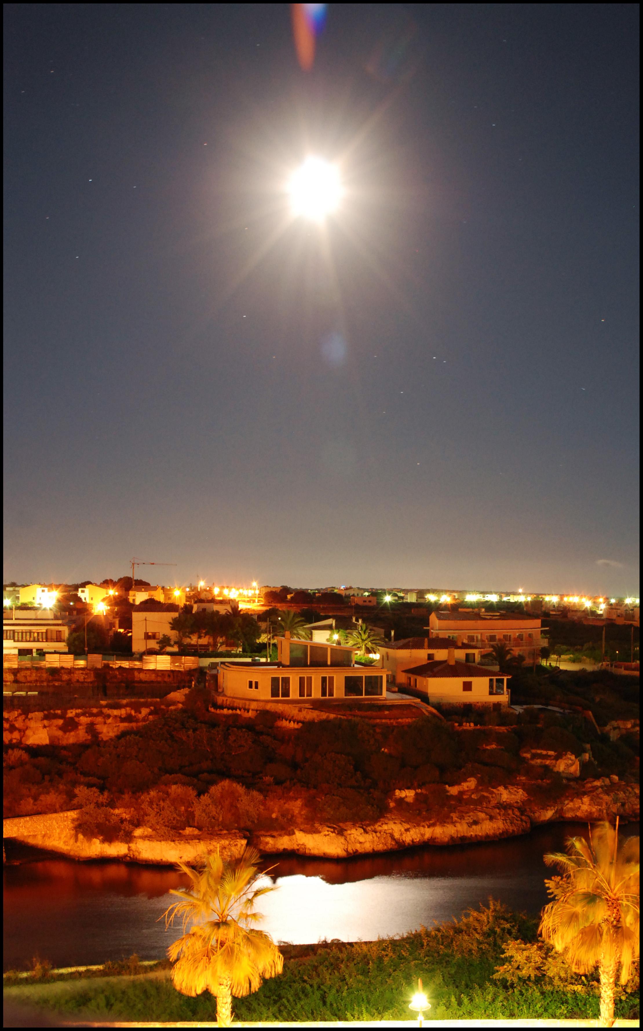 Foto playa Cala Santandria. Noche de Verano
