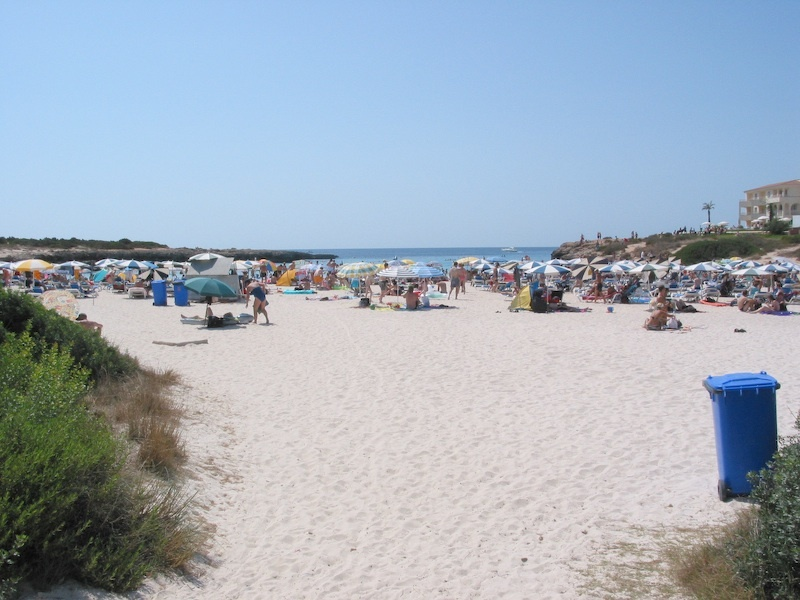 Foto playa Son Xoriguer. Menorcabeach