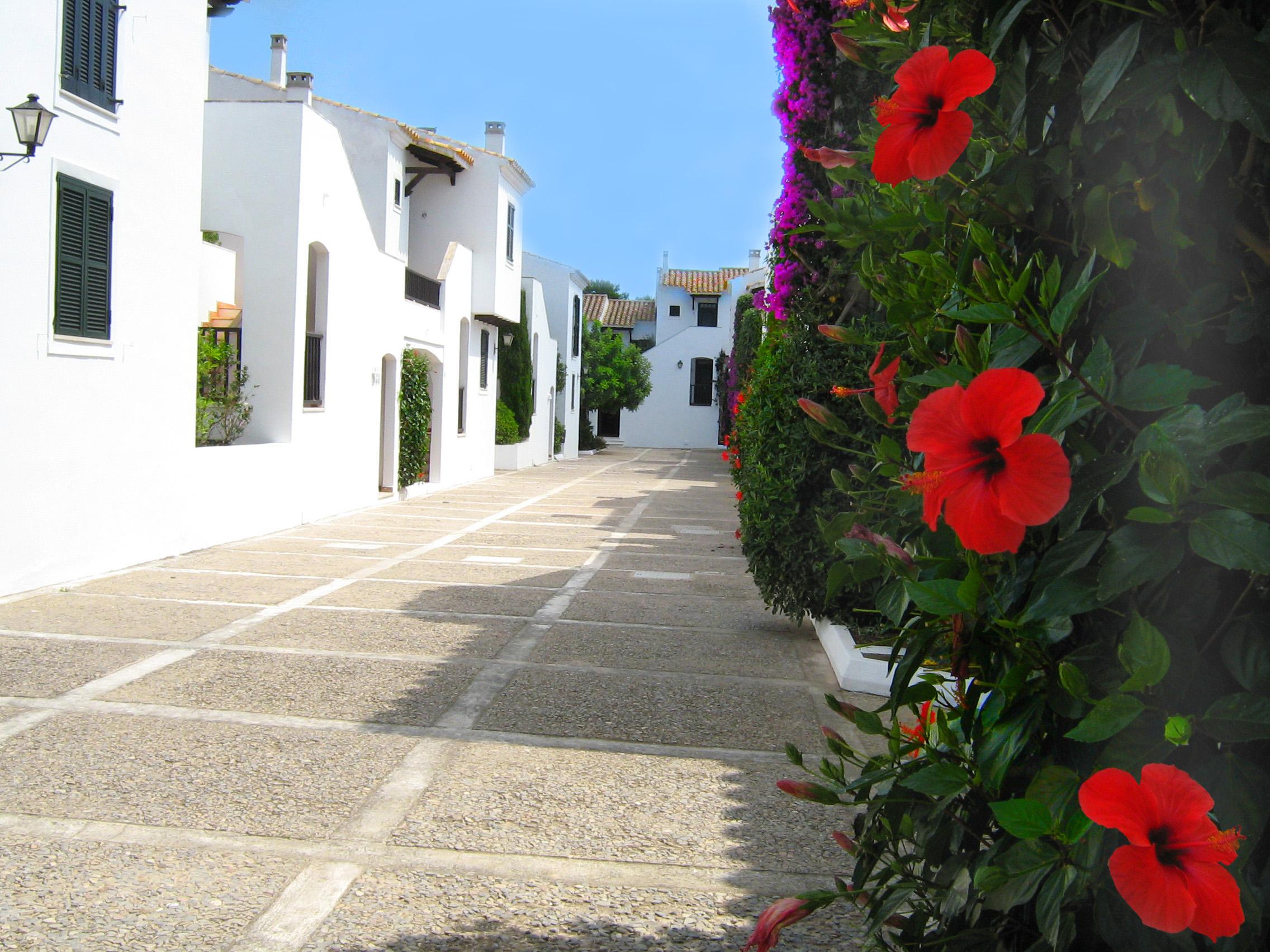 Foto playa Son Xoriguer. Interior del hotel Club Menorca (Son Xoriguer)