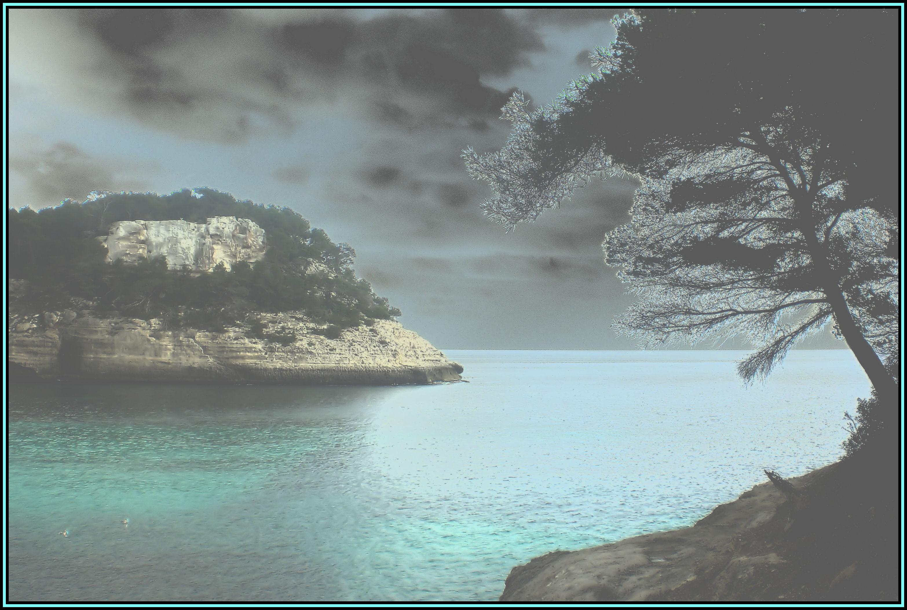 Foto playa Cala Galdana. **LUZ DE LUNA **