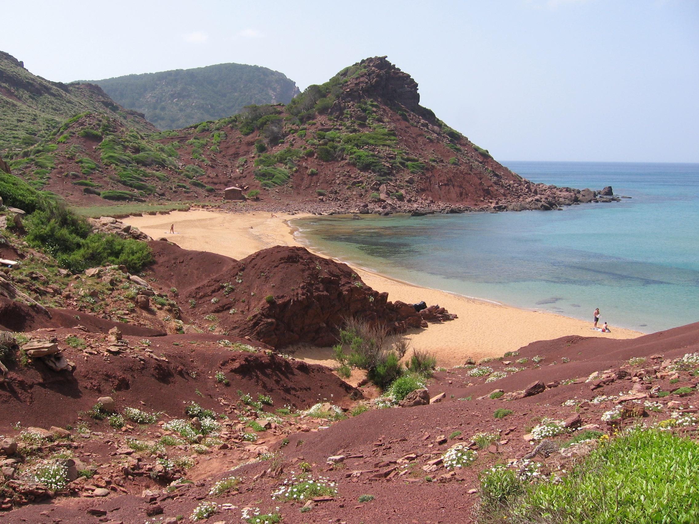 Foto playa Es Alocs. Cala del Pilar - Menorca