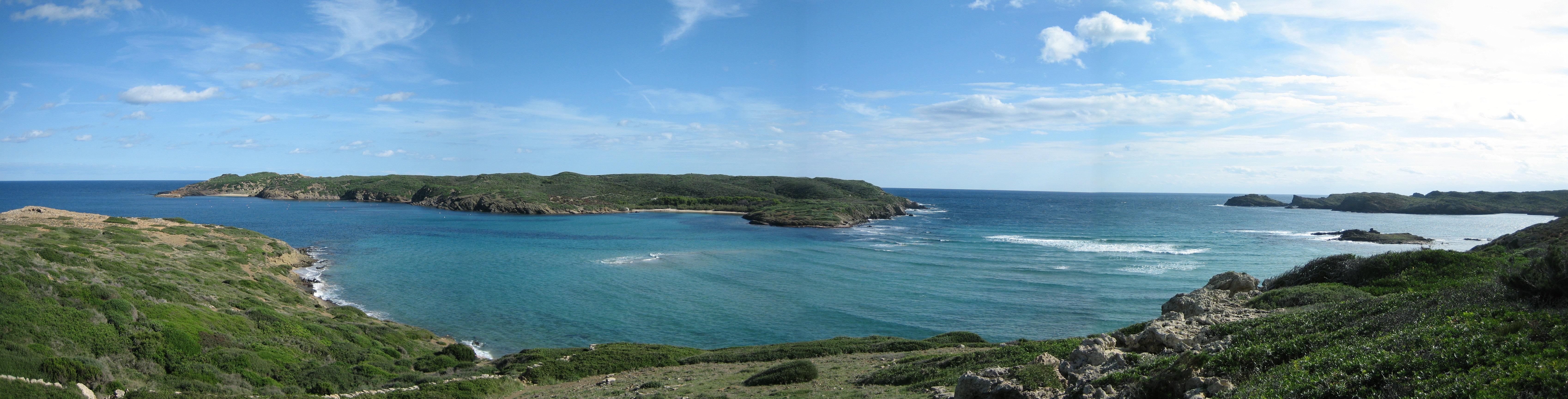 Foto playa Cala Tamarells. Illa d´en Colom (panoràmica)